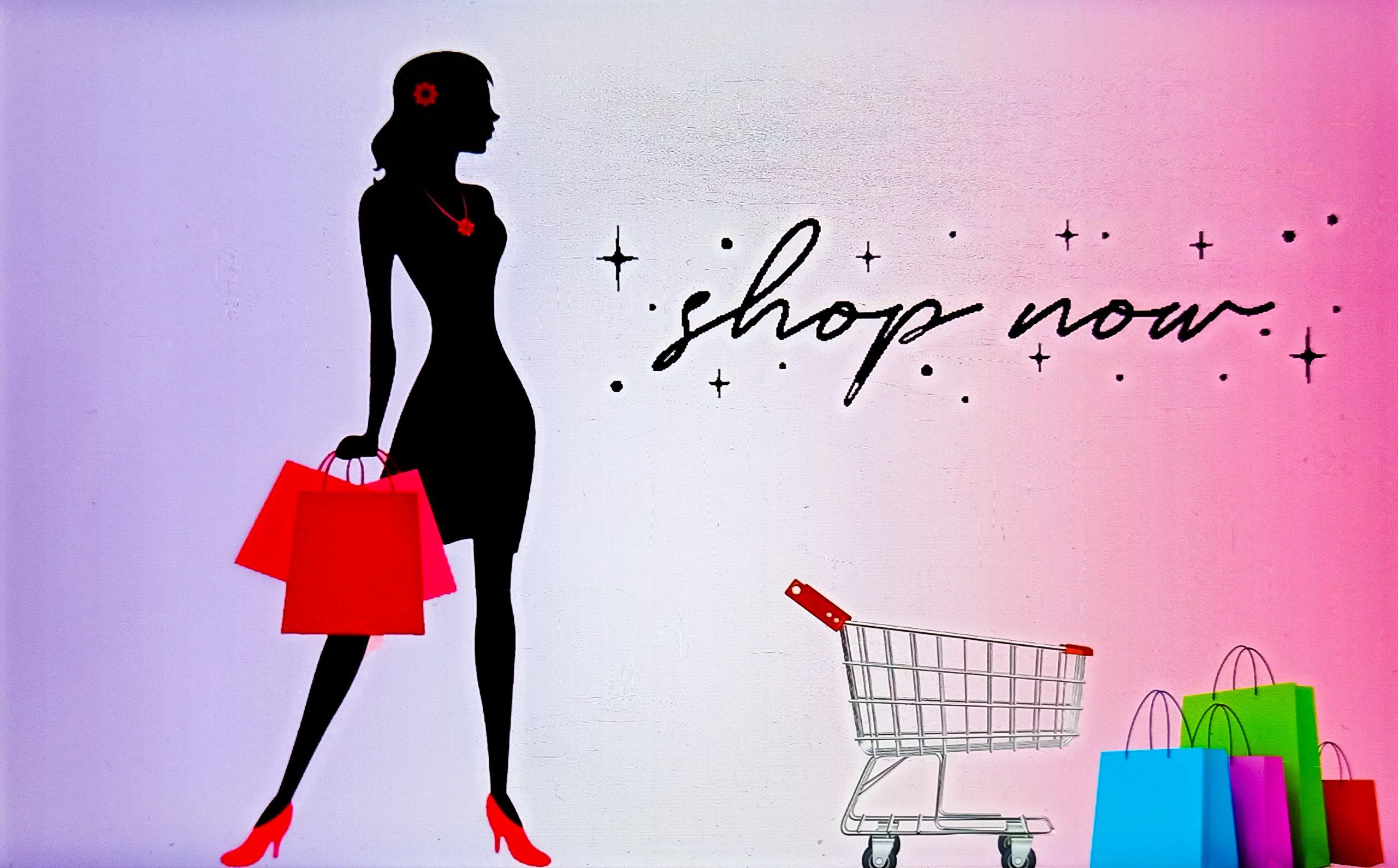 A shopping illustration