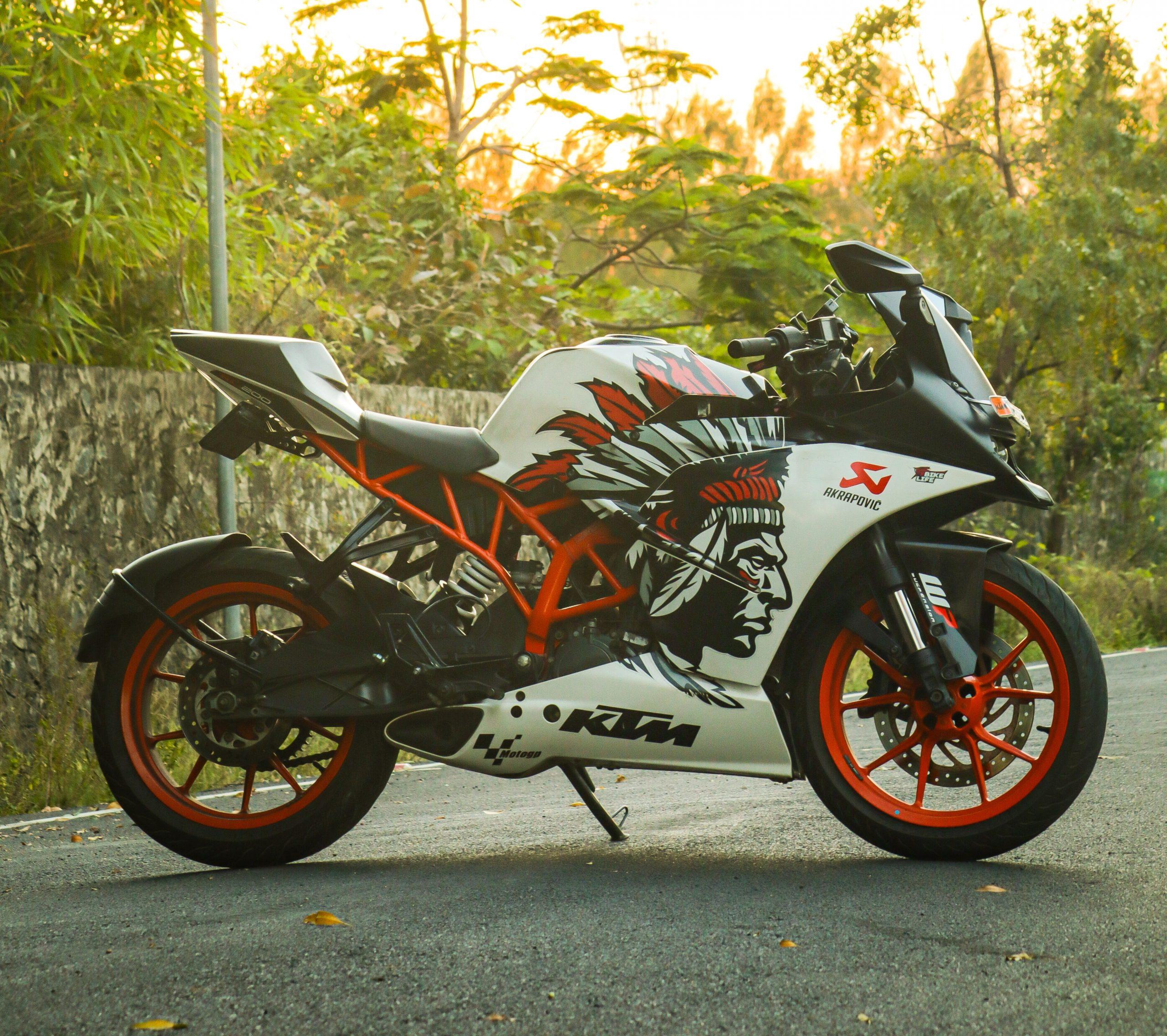 A sports bike