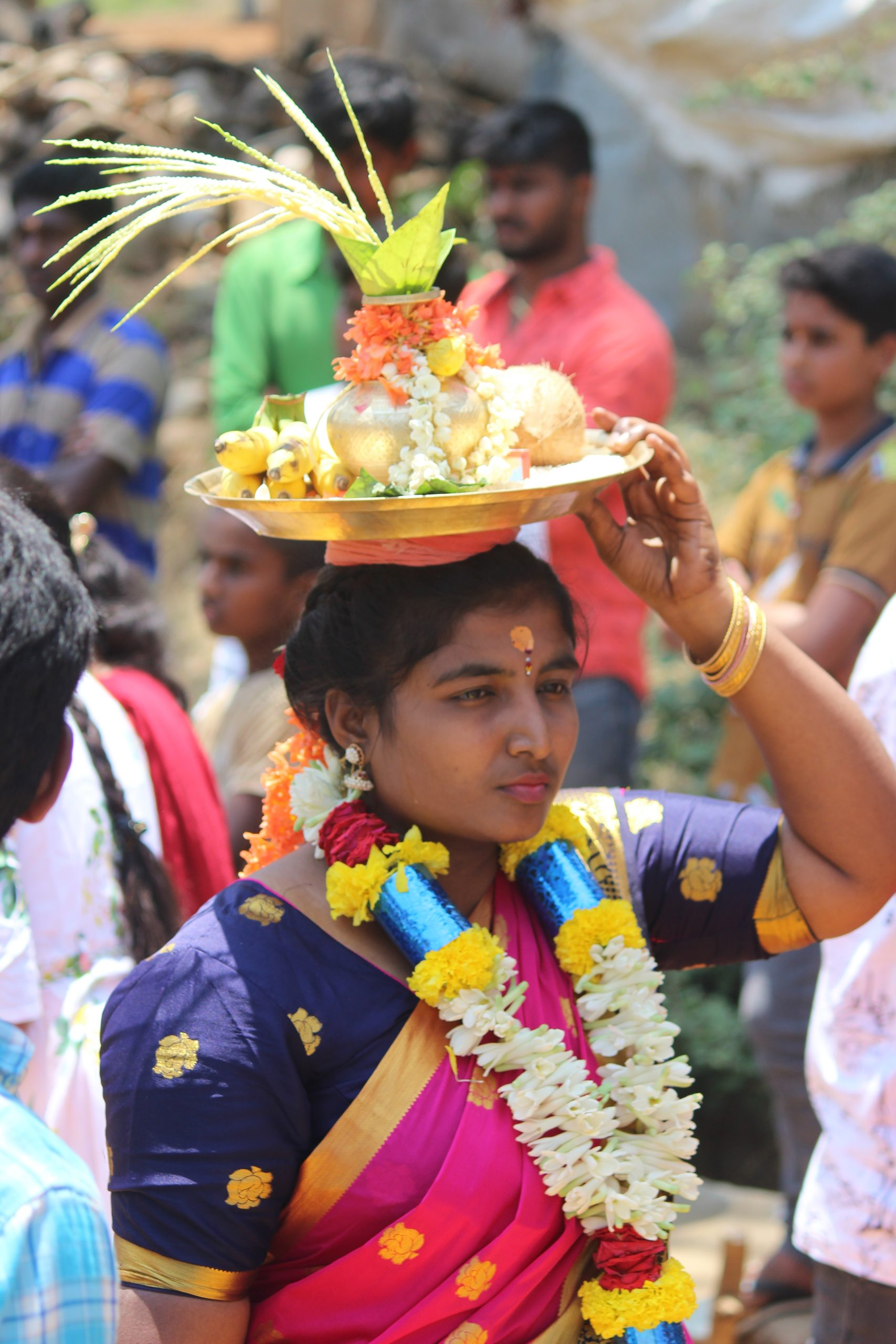 A woman during religious festival