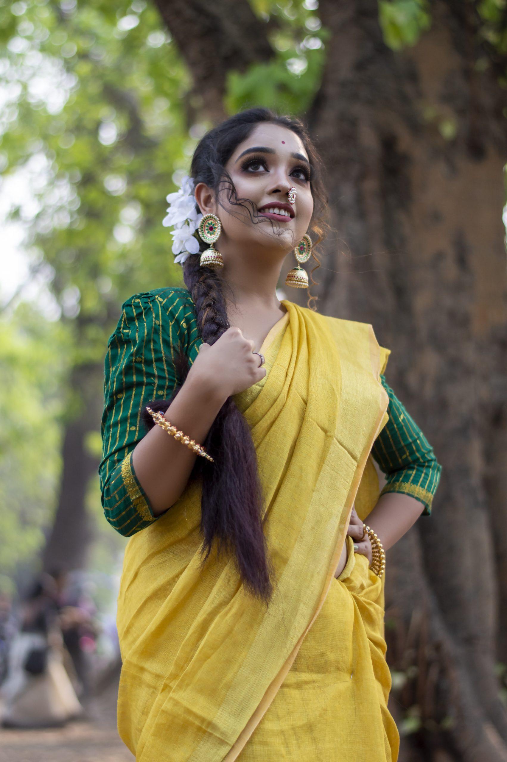 An Indian fashion model