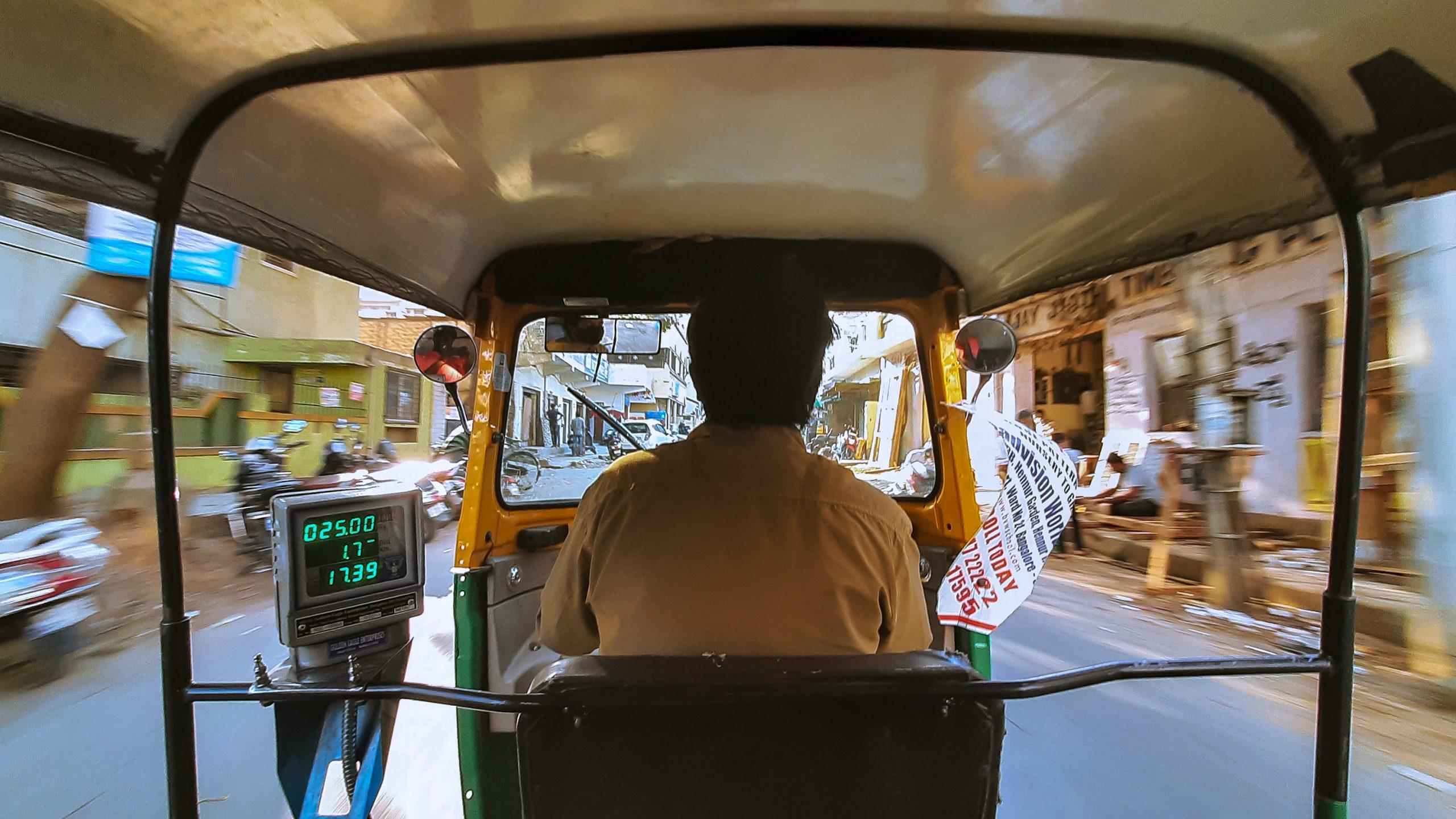 An autorickshaw driver