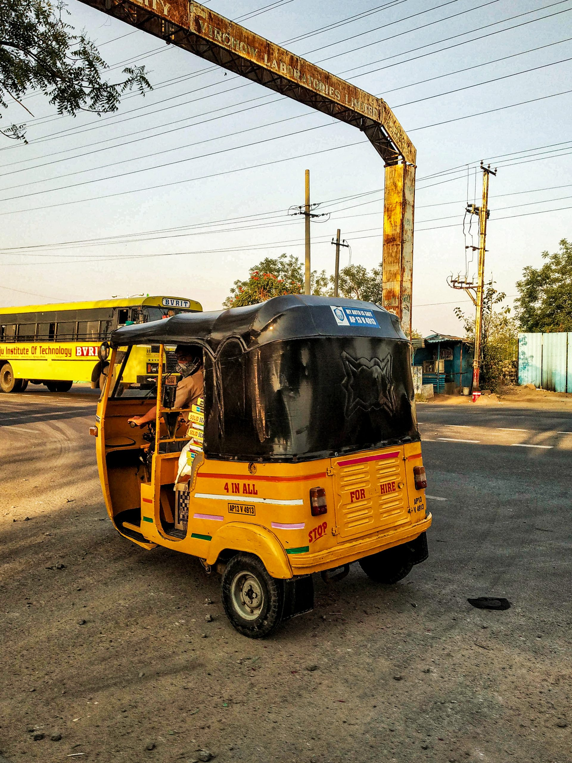Autorickshaw on the road
