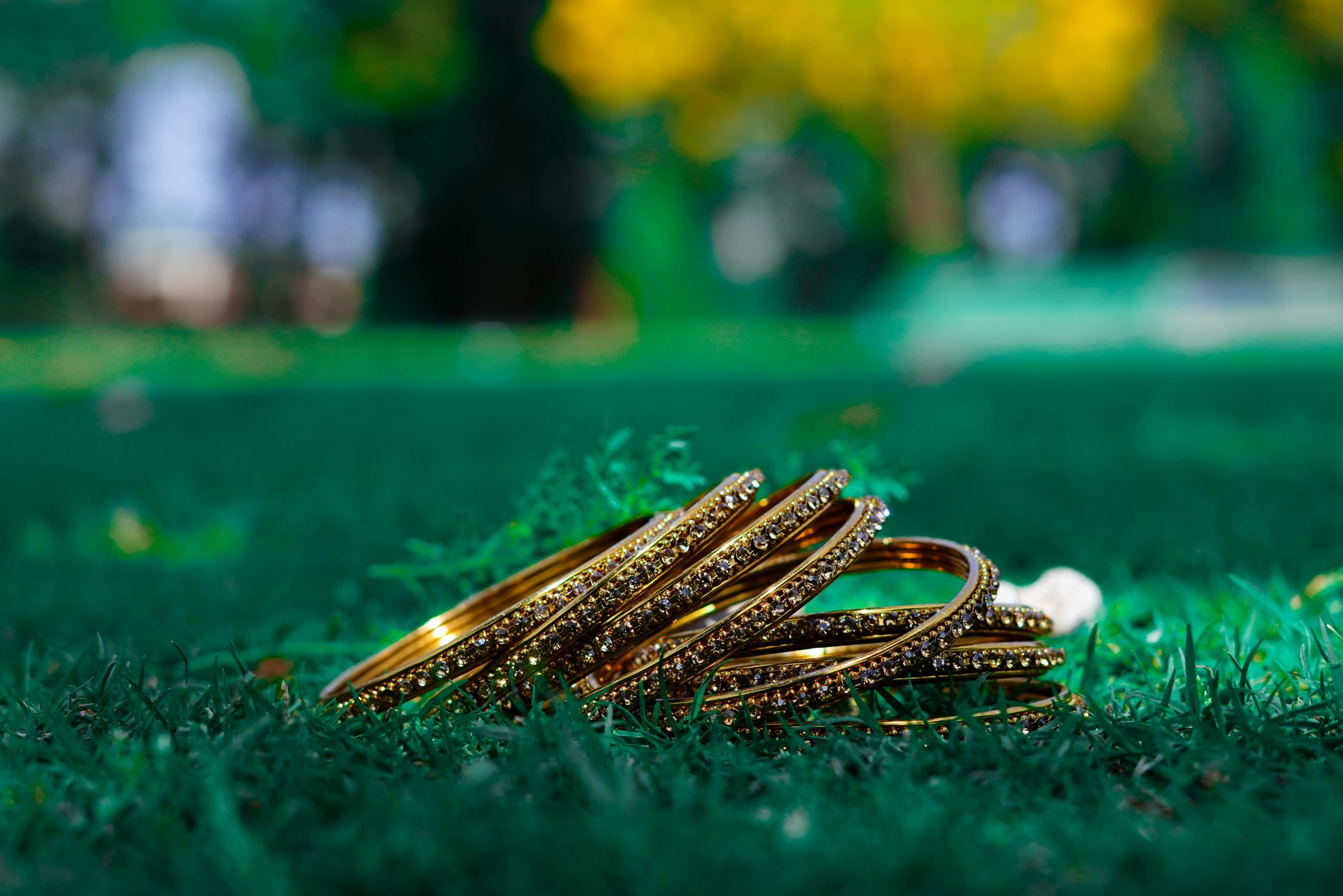 Bangles on the grass