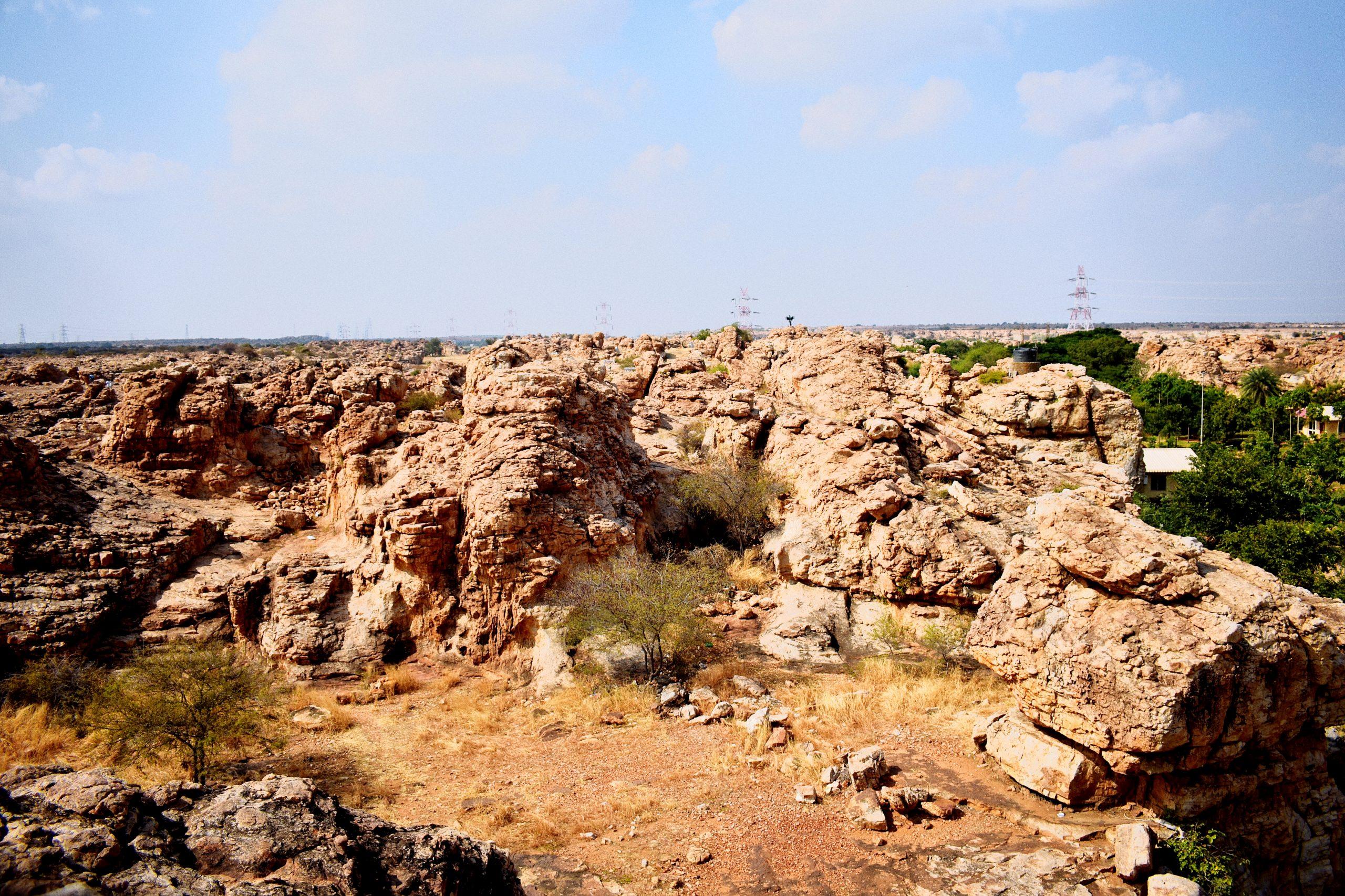 Landscape of a rock formation