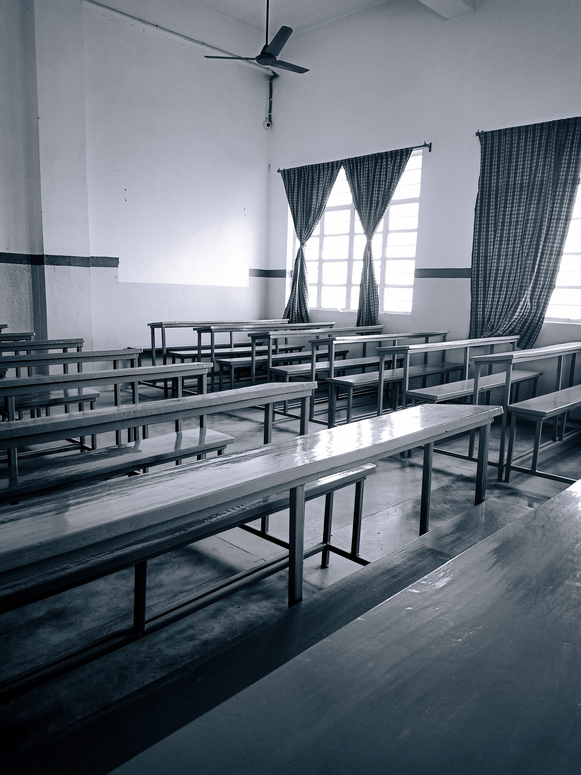 Benches in the class room