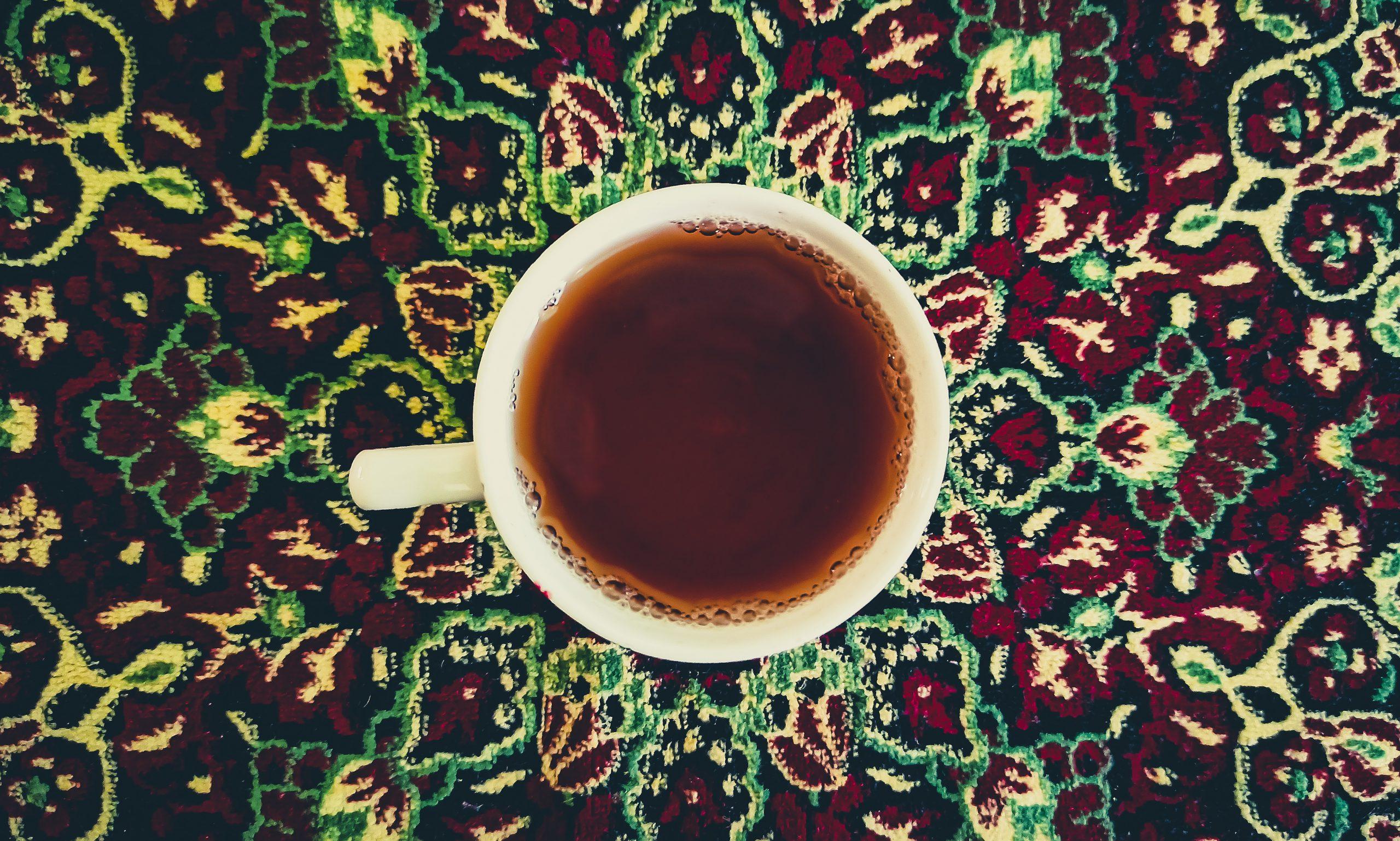 Black tea in cup
