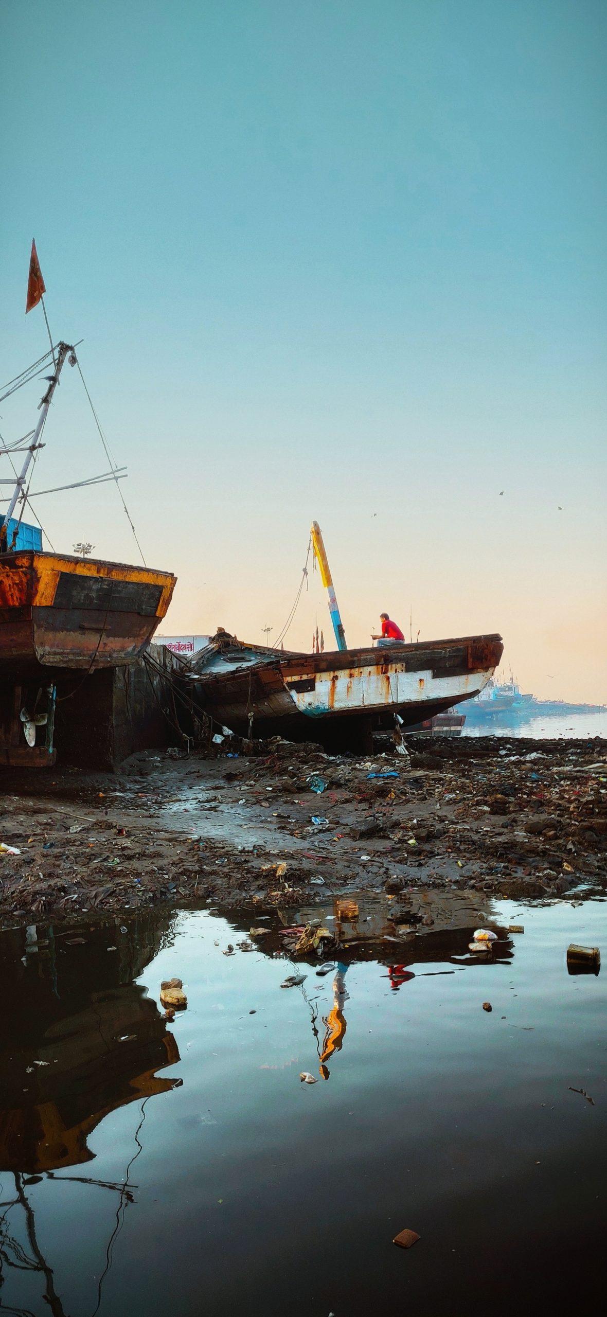 Boat at sea at shore