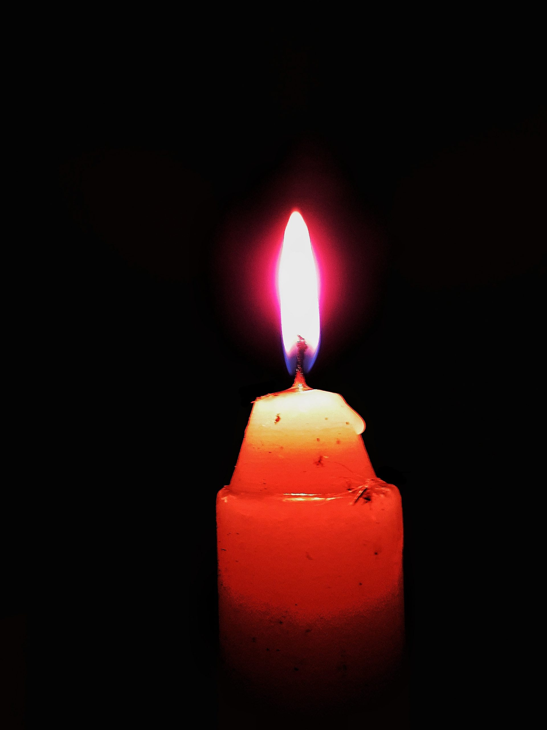 Candlight in the dark