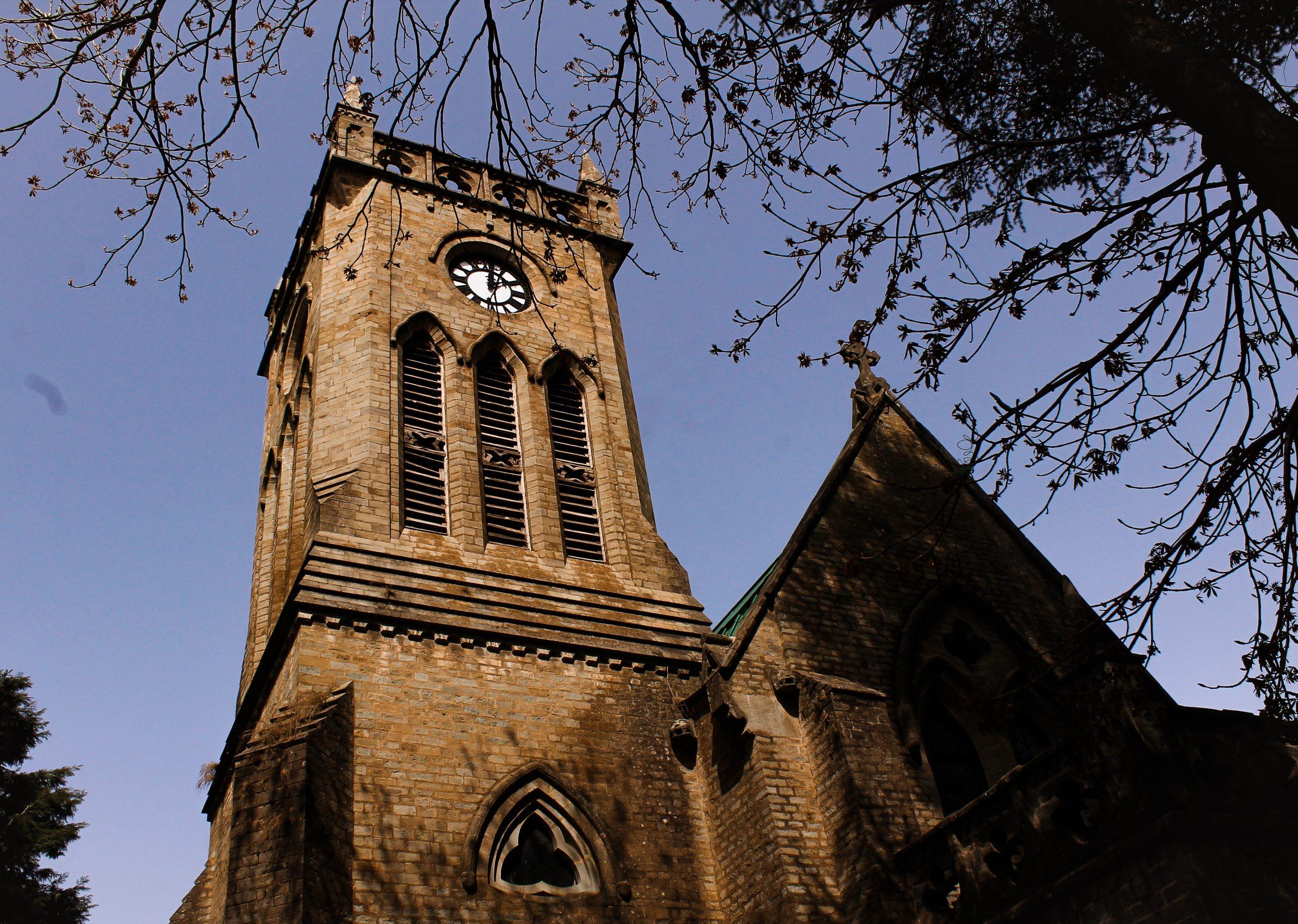 Clock tower of a church