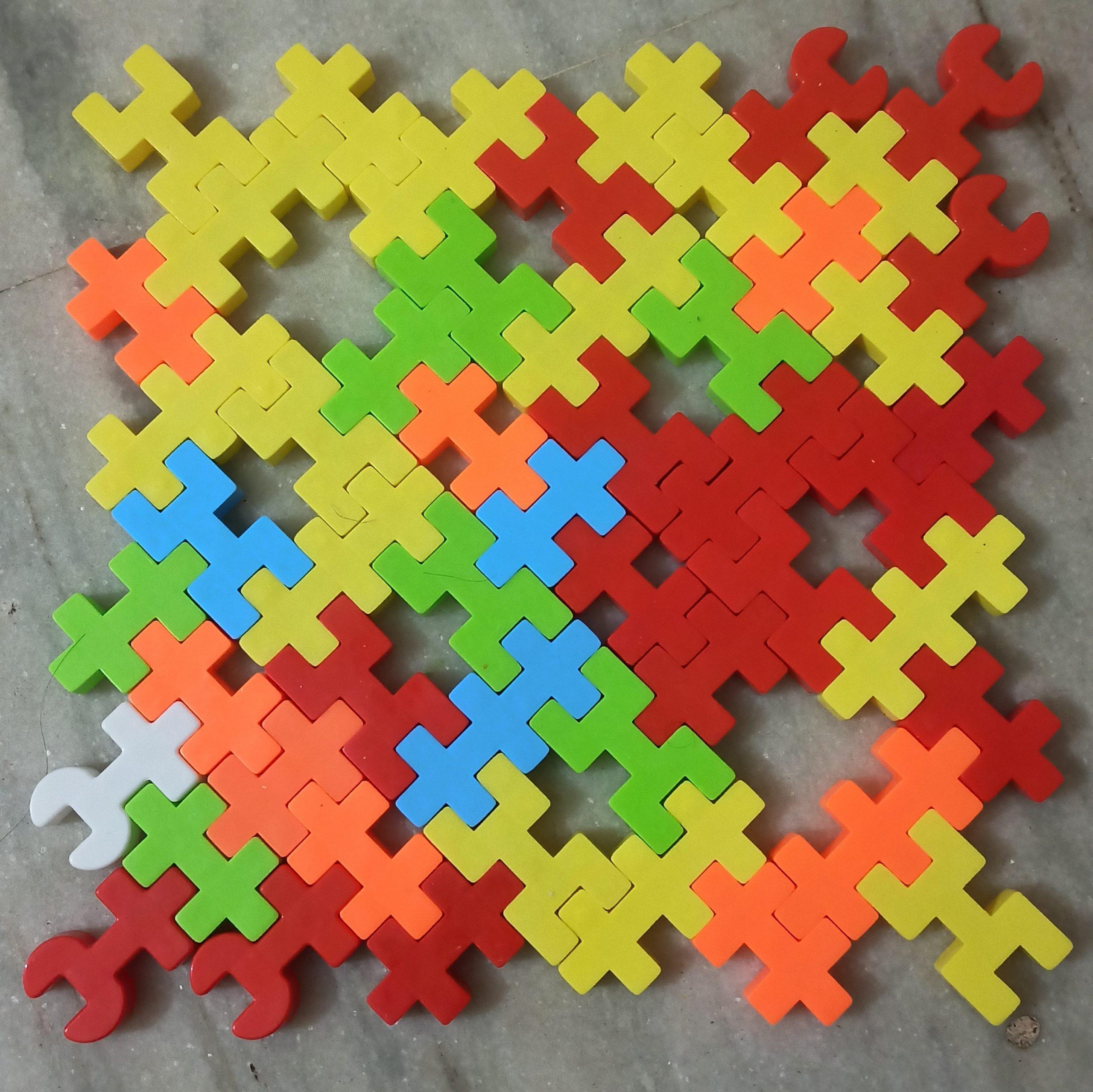 Colorful puzzle blocks