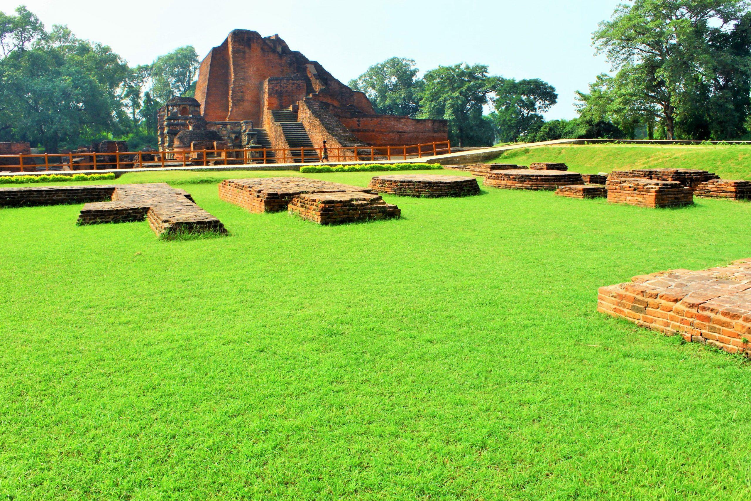 Demolished structure of Nalanda University in Bihar