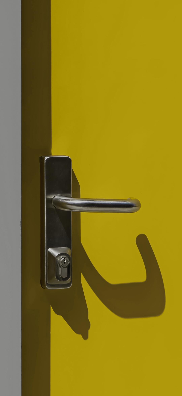 A door handle center lock