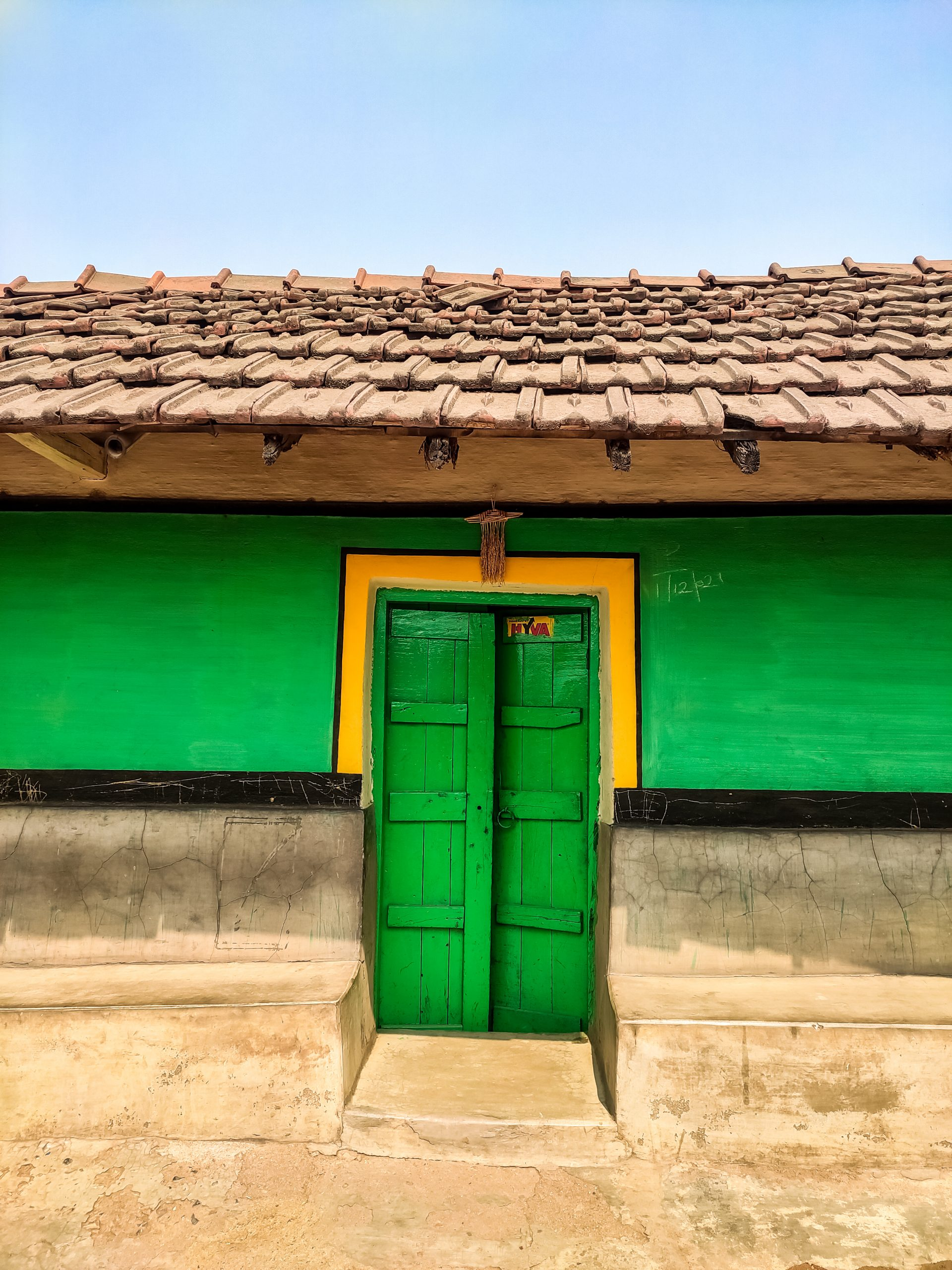 Door of a village house