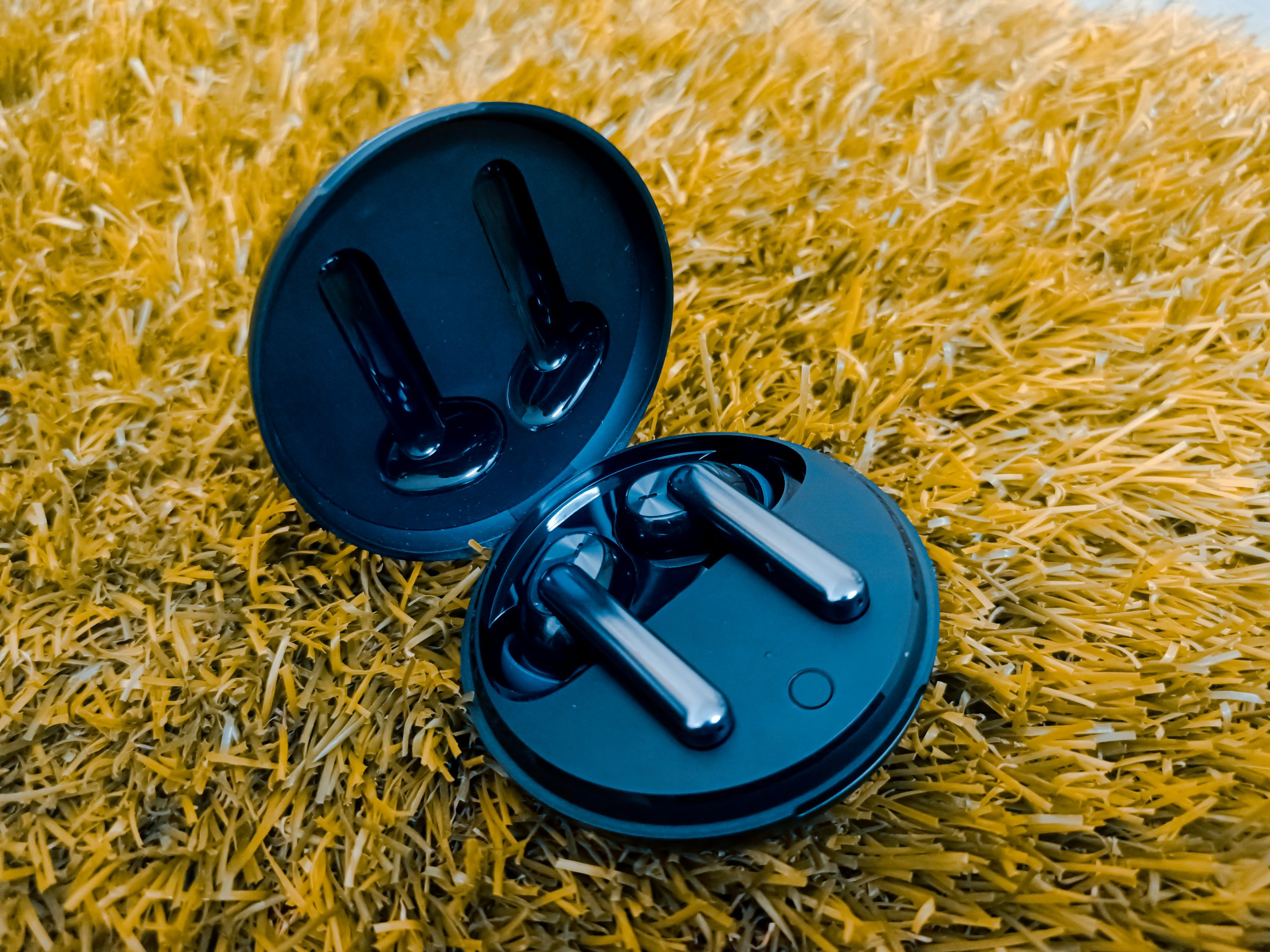 Earbuds on the grass