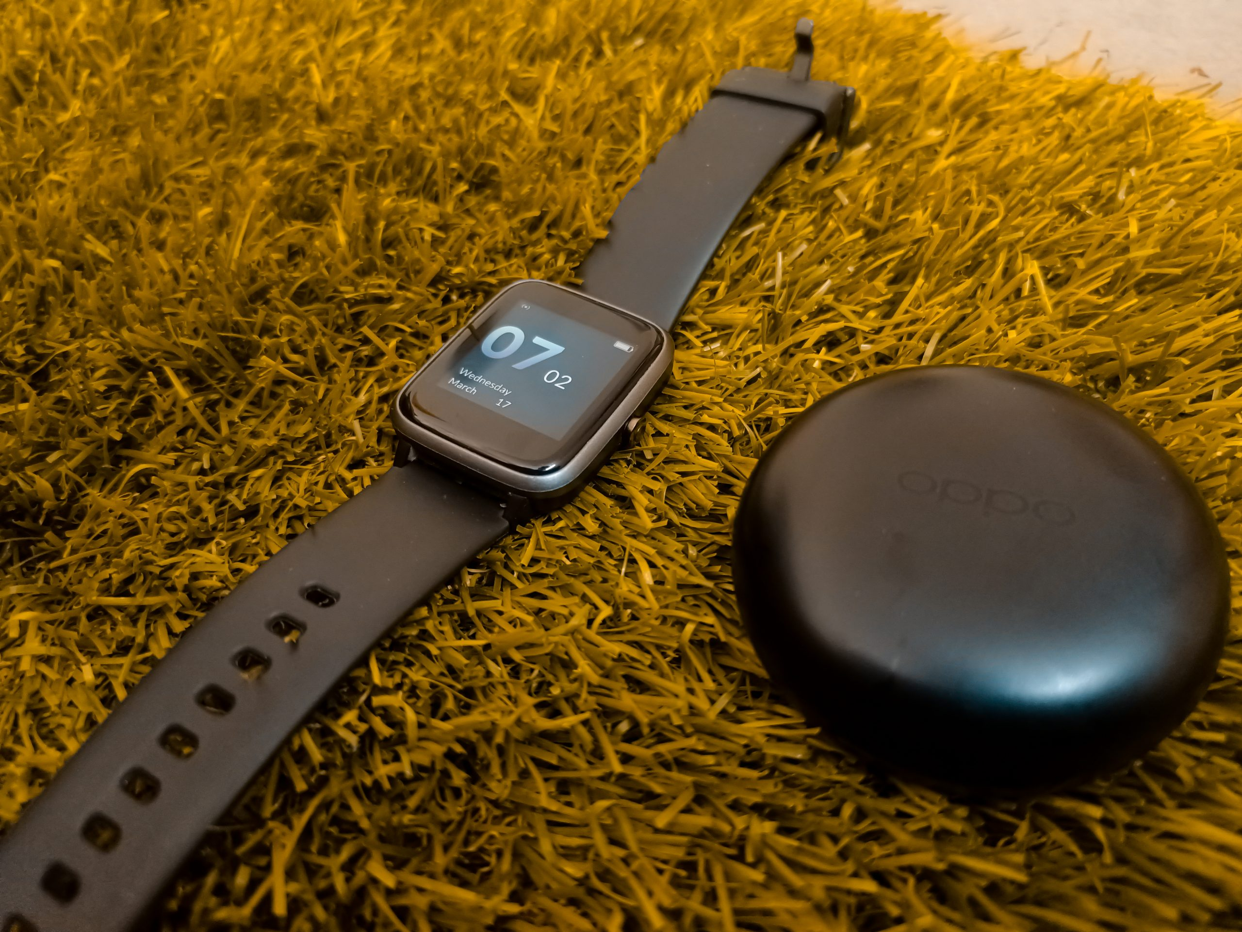 Earpods and a smartwatch