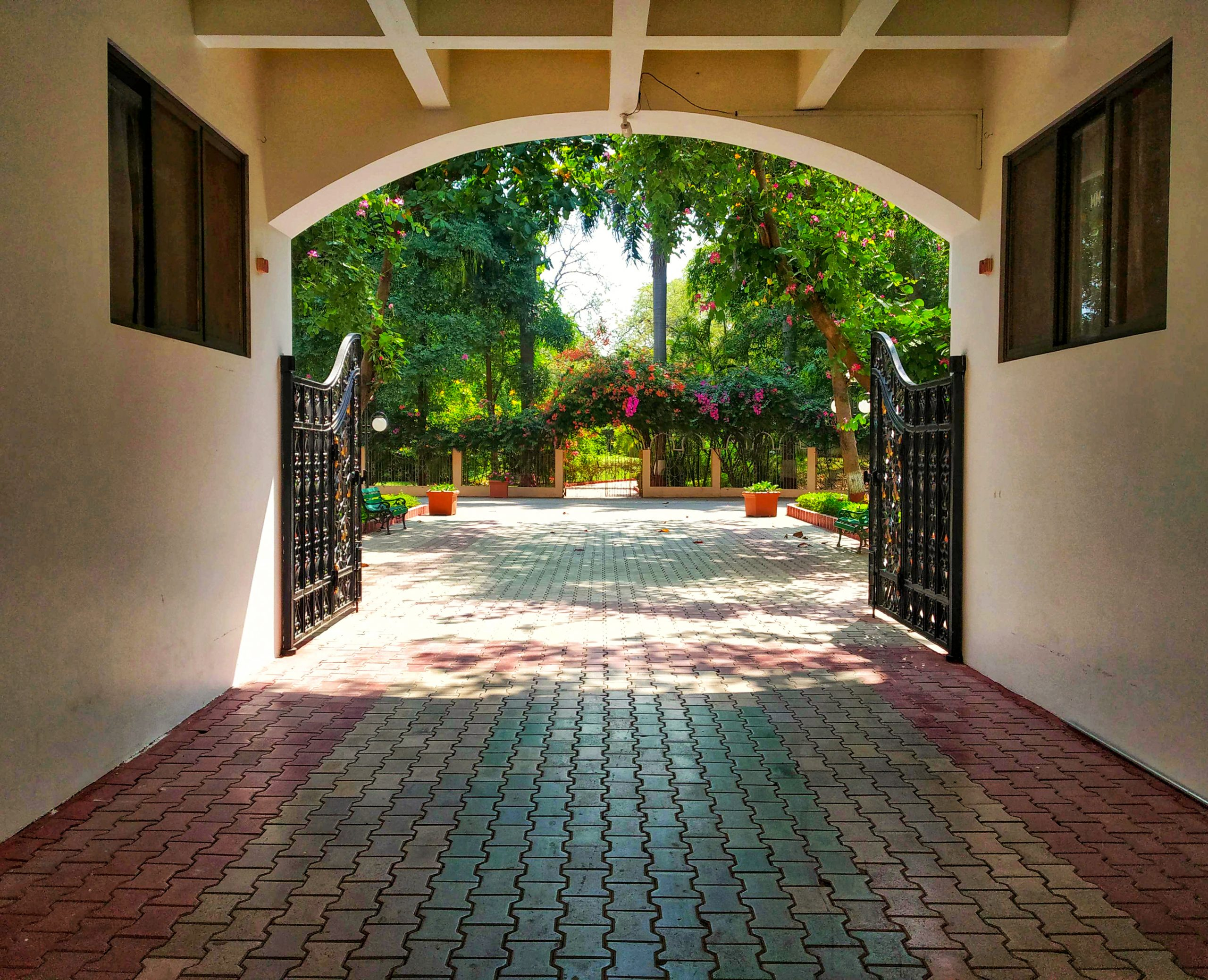 Entrance gate of a building