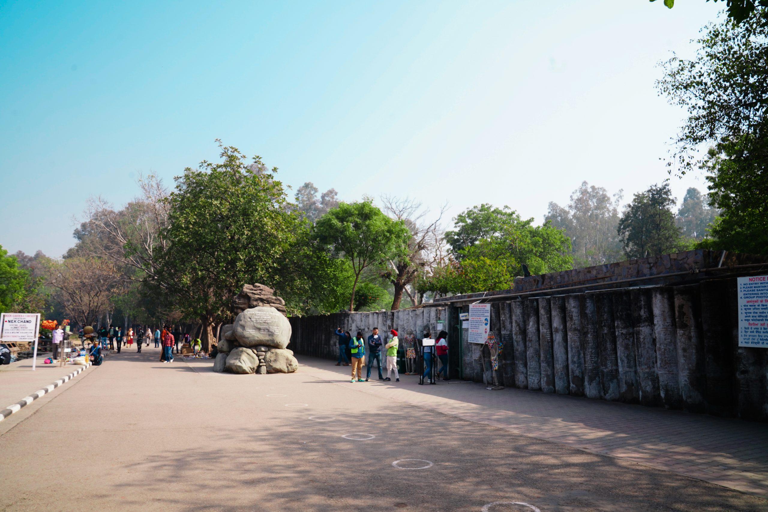 Entrance of Rock Garden in Chandigarh