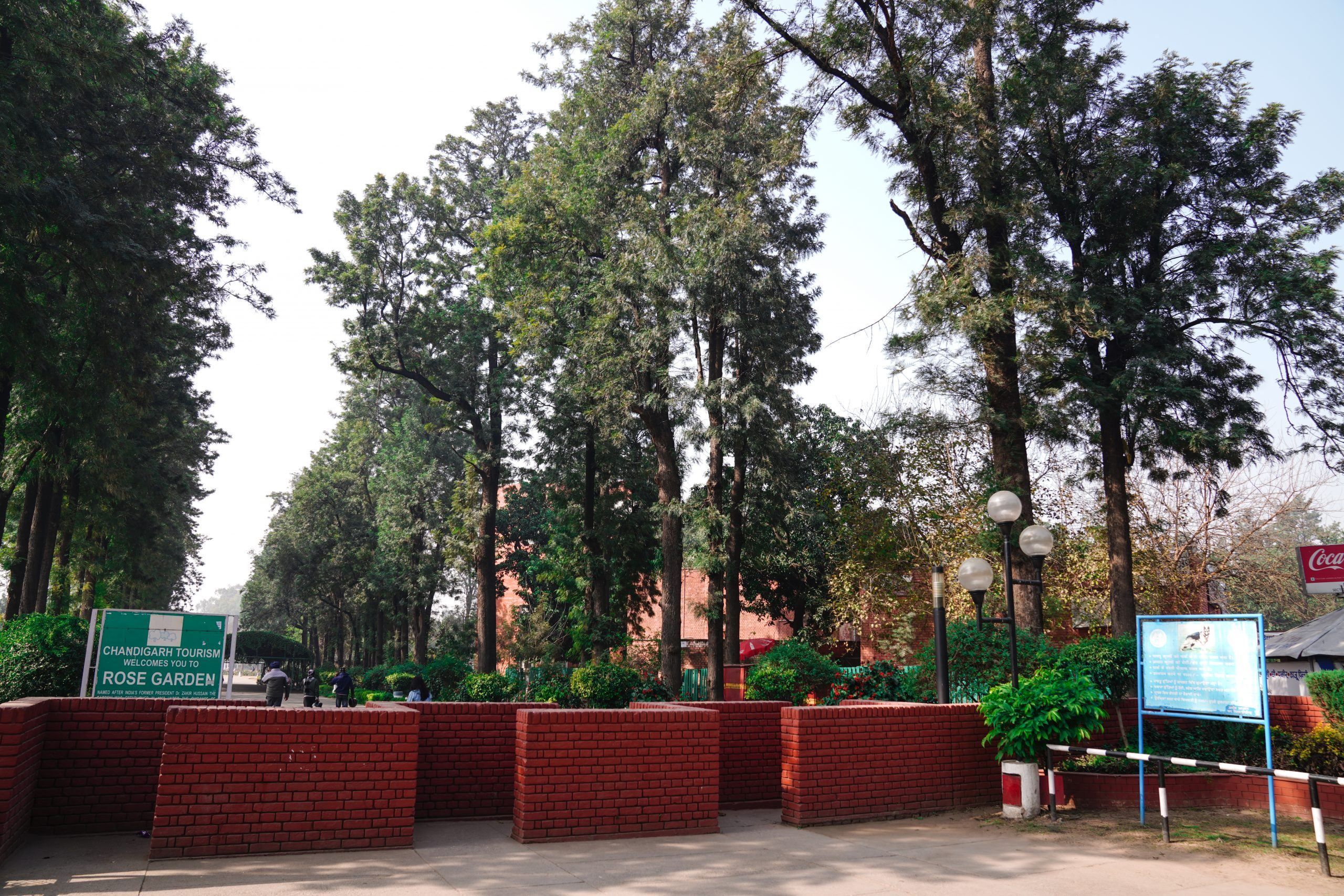 Entrance of Rose garden in Chandigarh