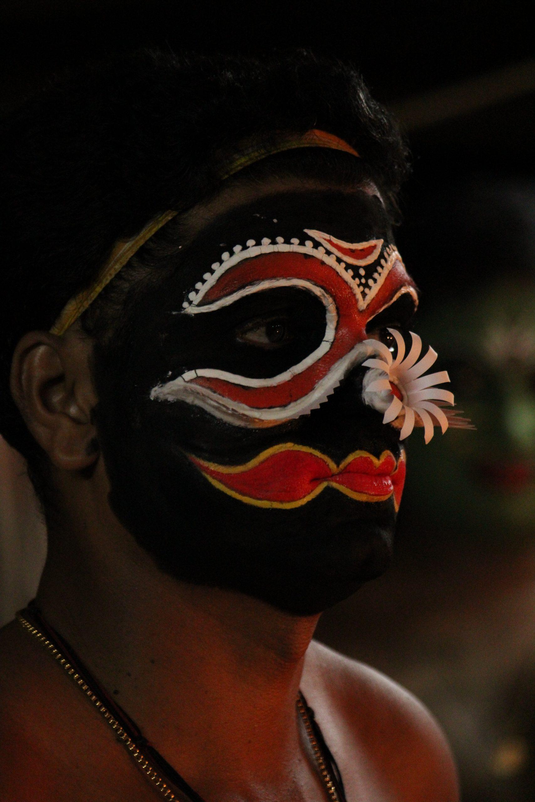 Face of a Kathakali artist