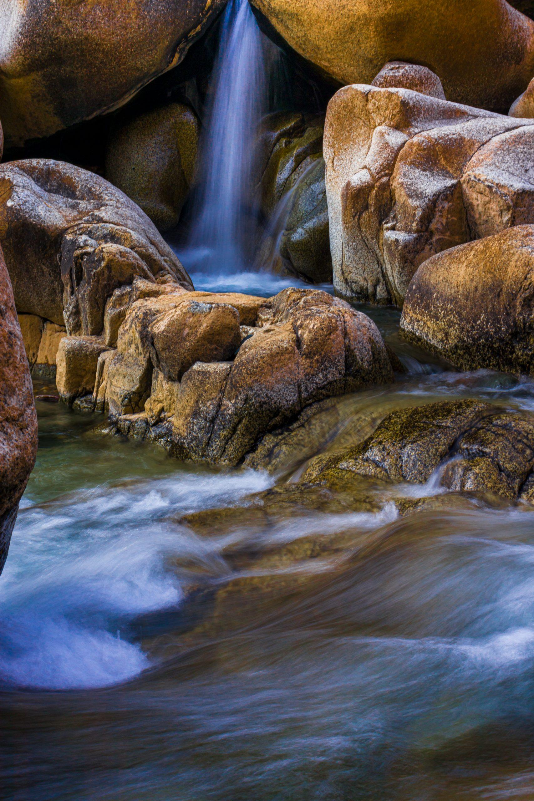 Portrait of waterfall