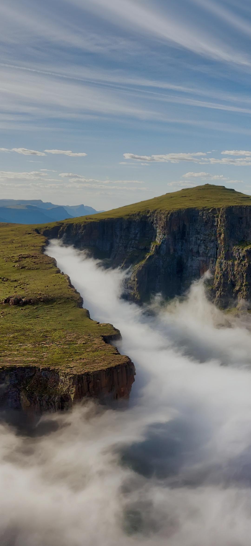 Fog at a high altitude mountain top