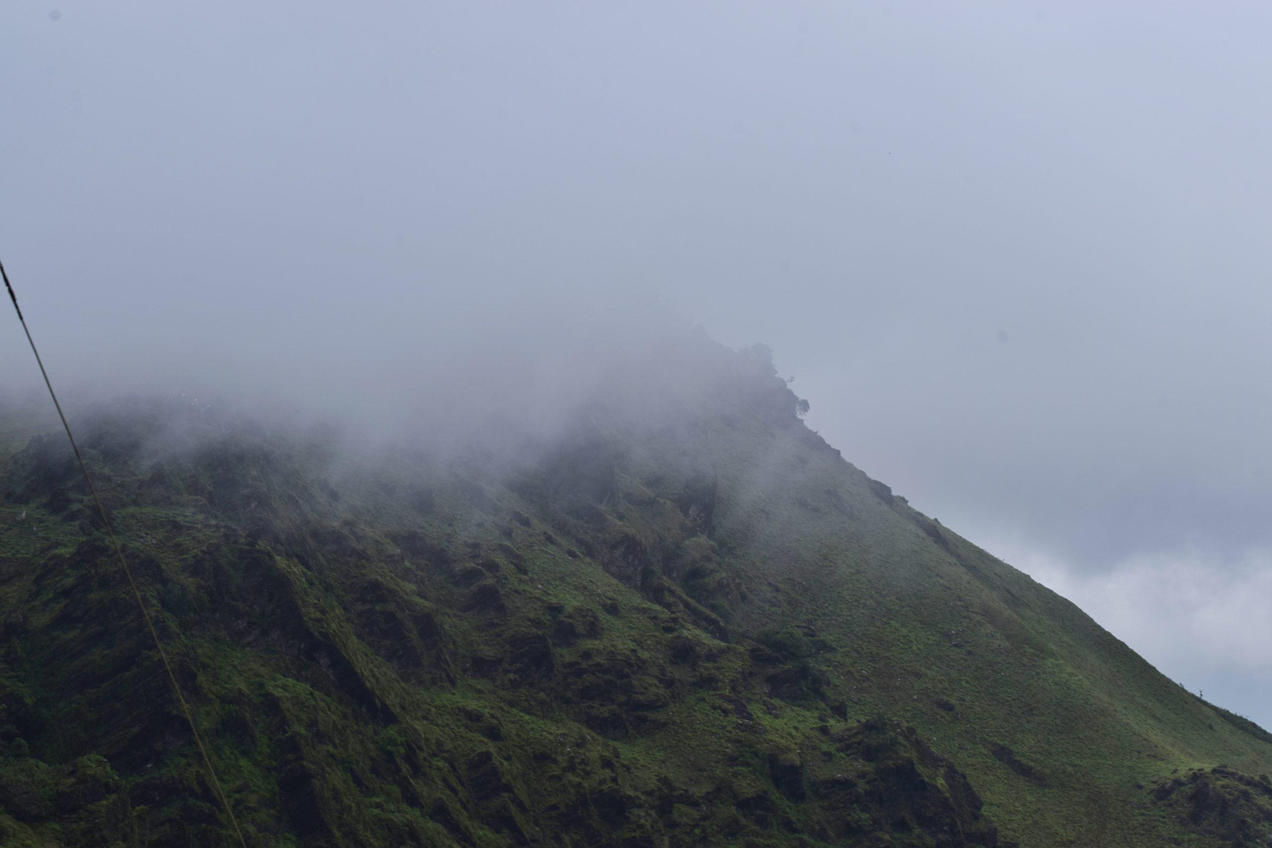 Fog on a mountain