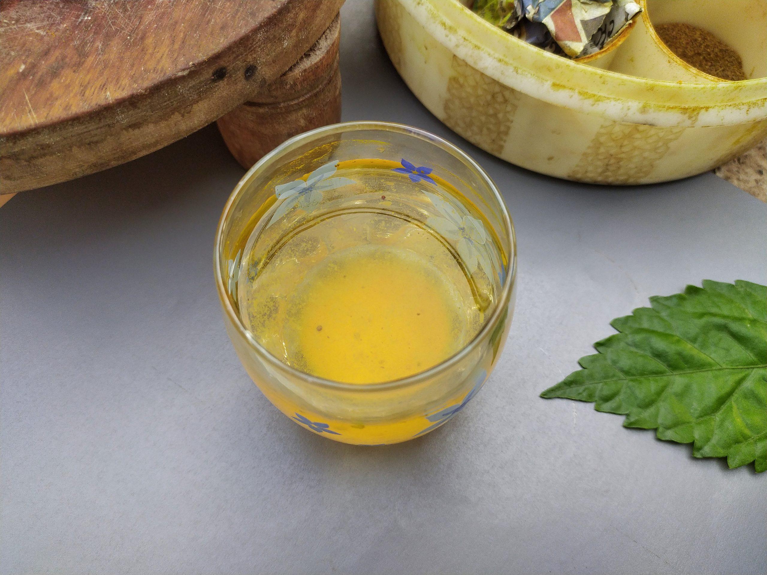 Fruit juice in a glass