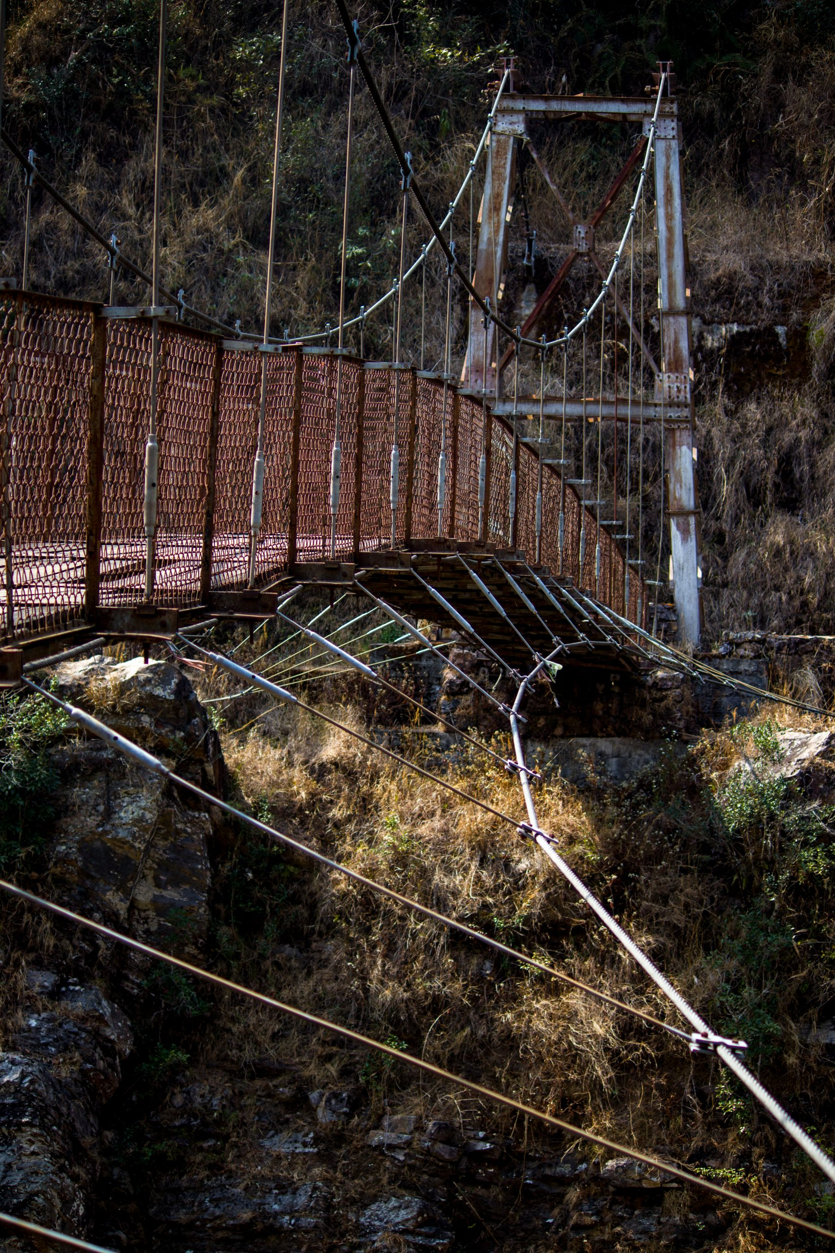 Hanging Bridge with wire