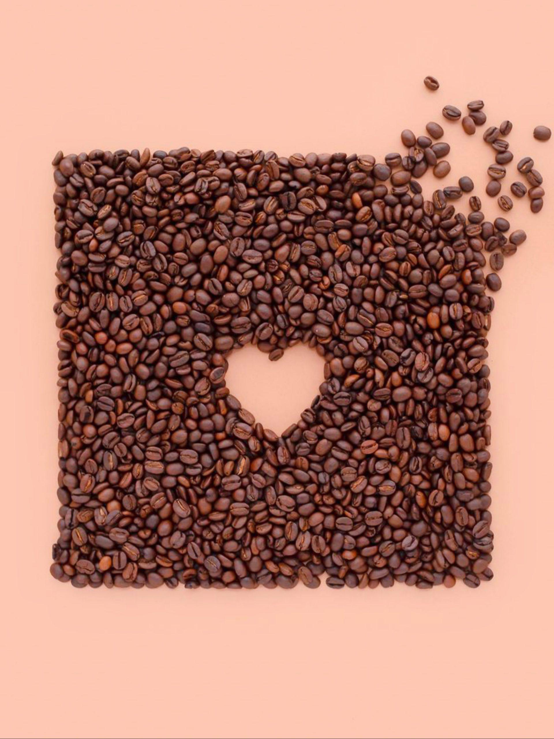 Heart shape in Coffee seeds