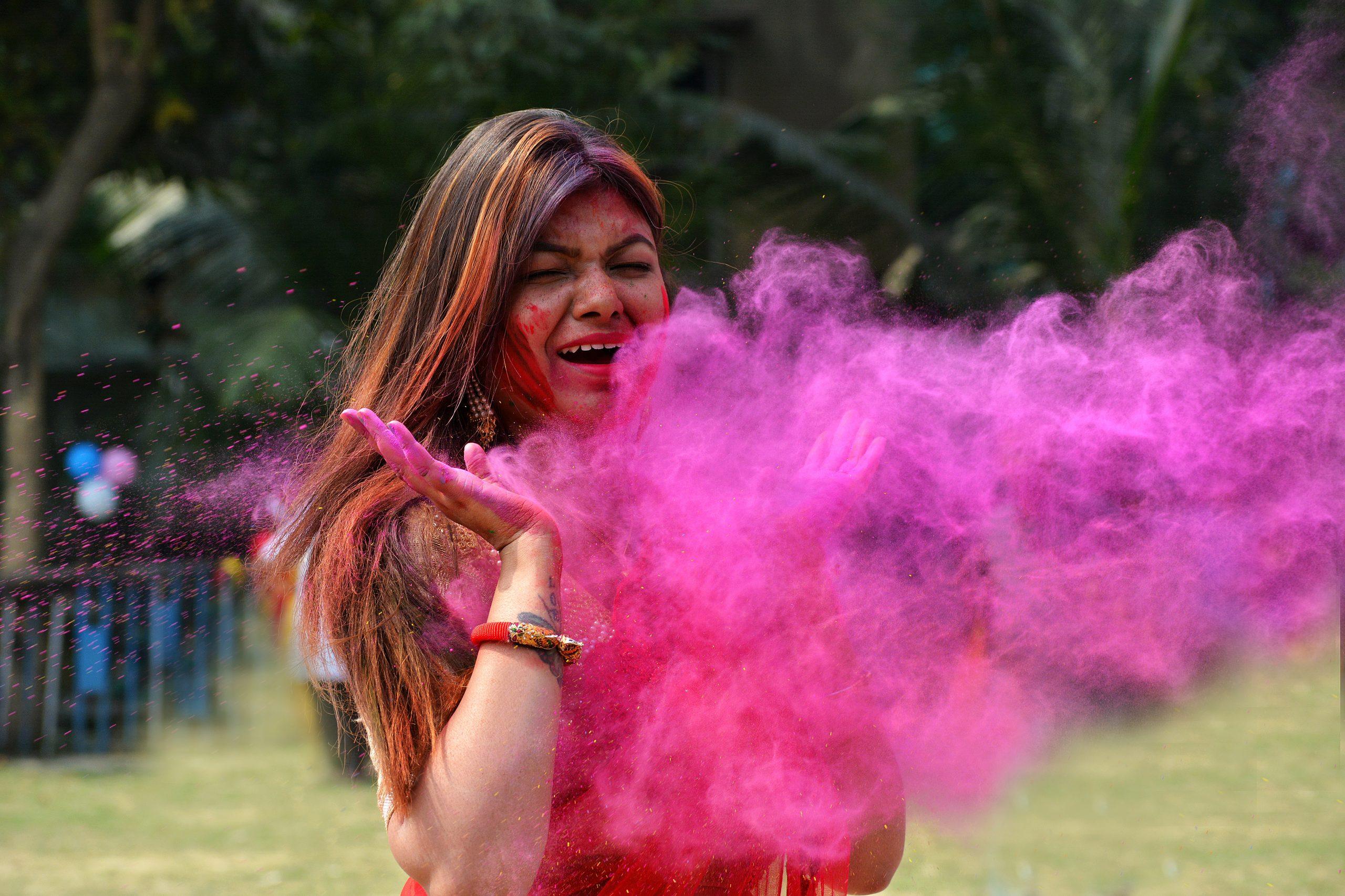 Holi Colors on Girl