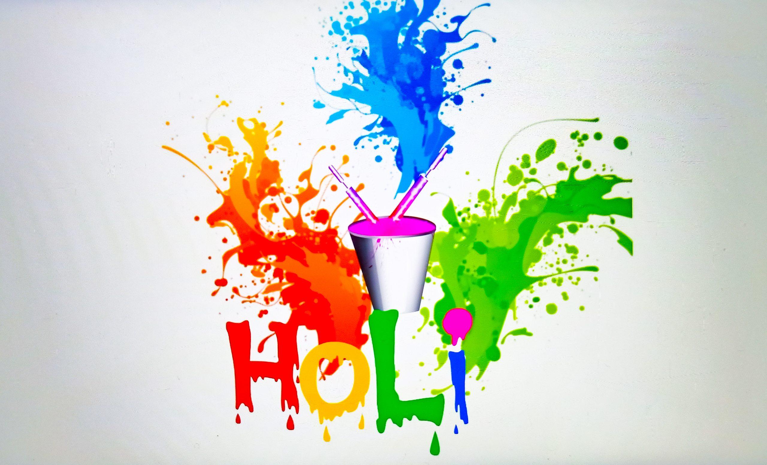 Holi illustration