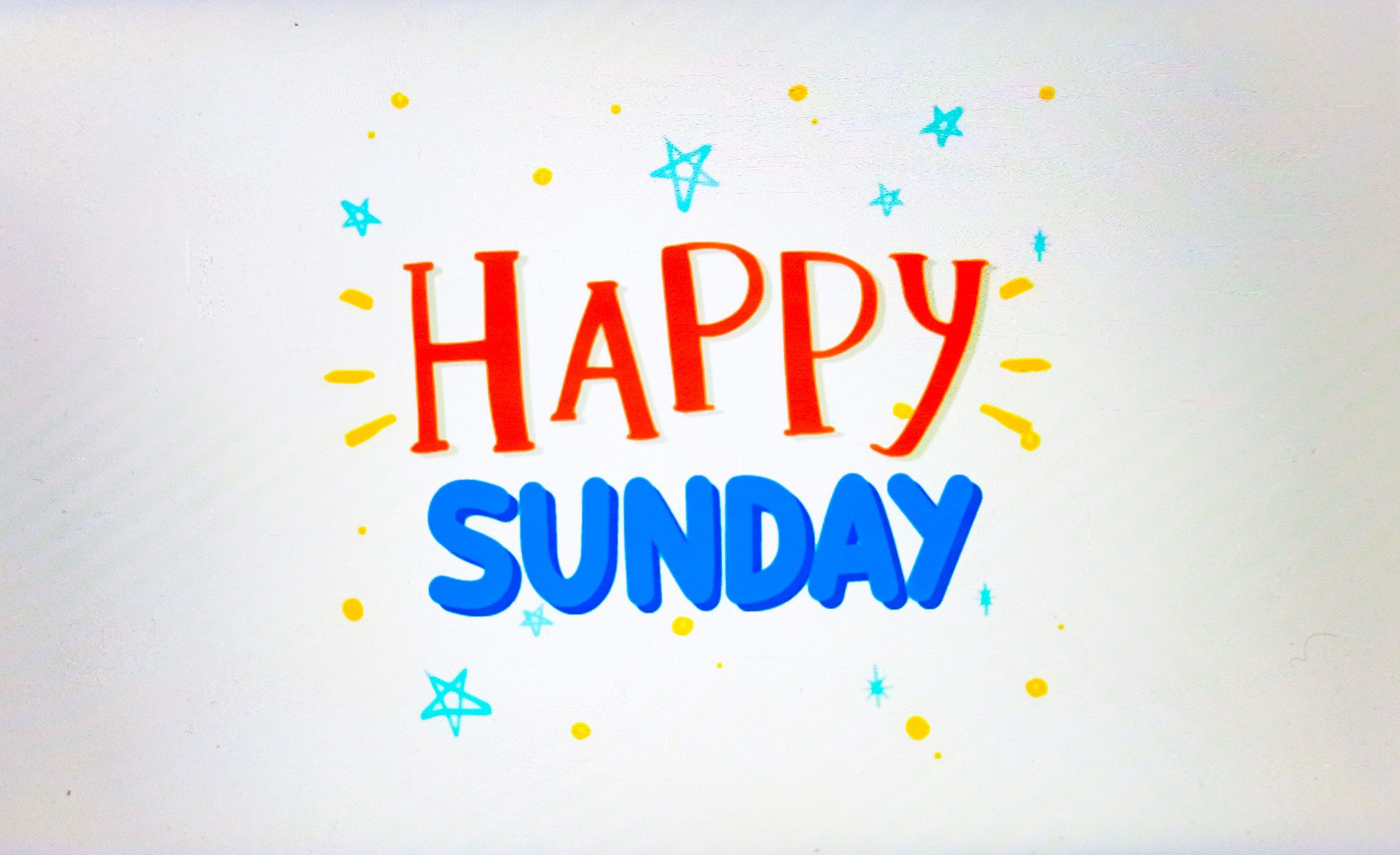 Happy Sunday Illustrations