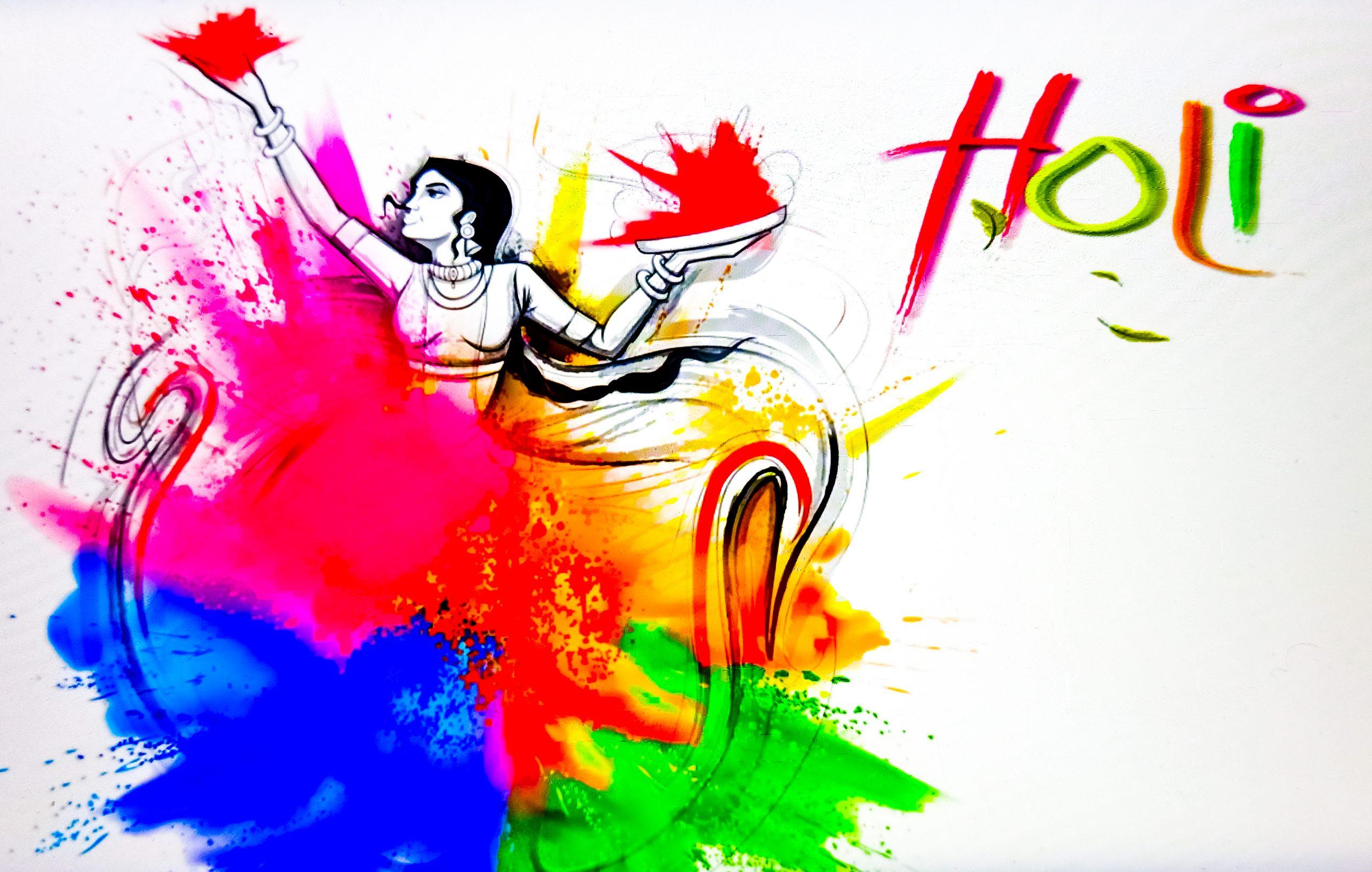 Poster of Holi celebration