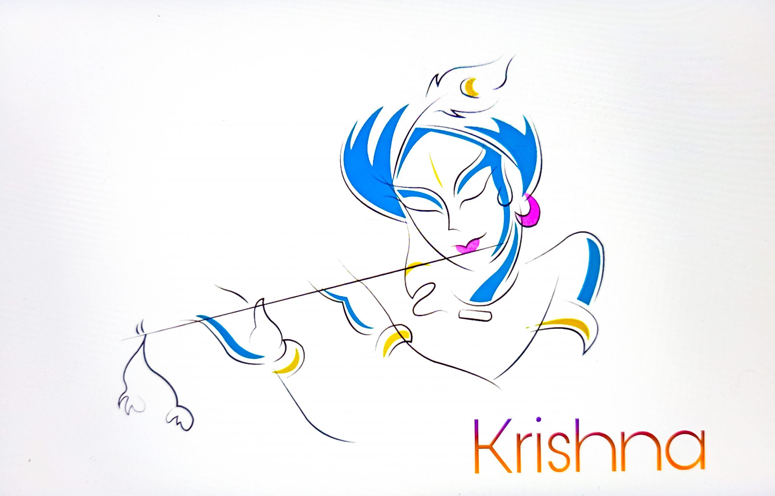 Lord Krishna illustration