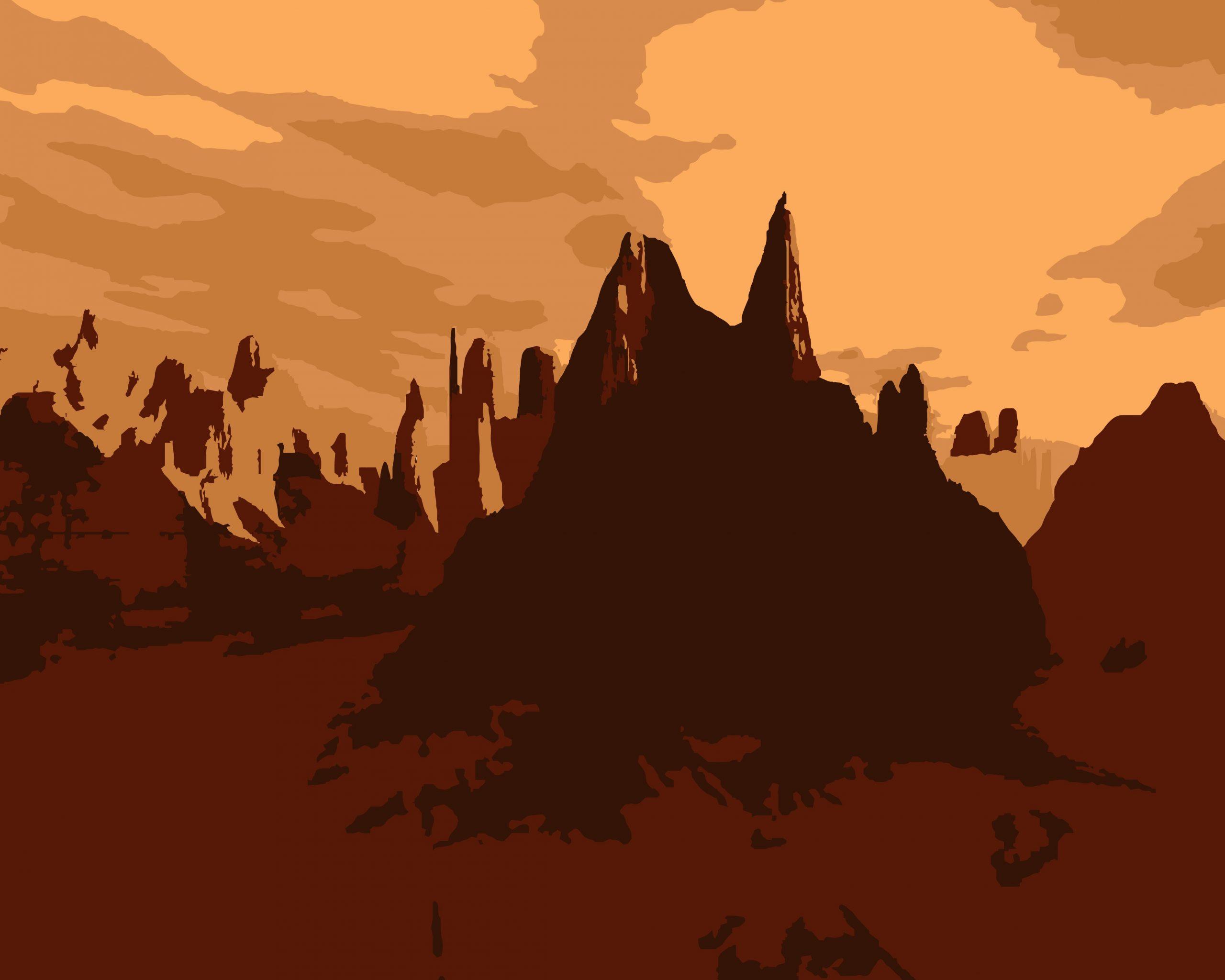 Illustration of hills
