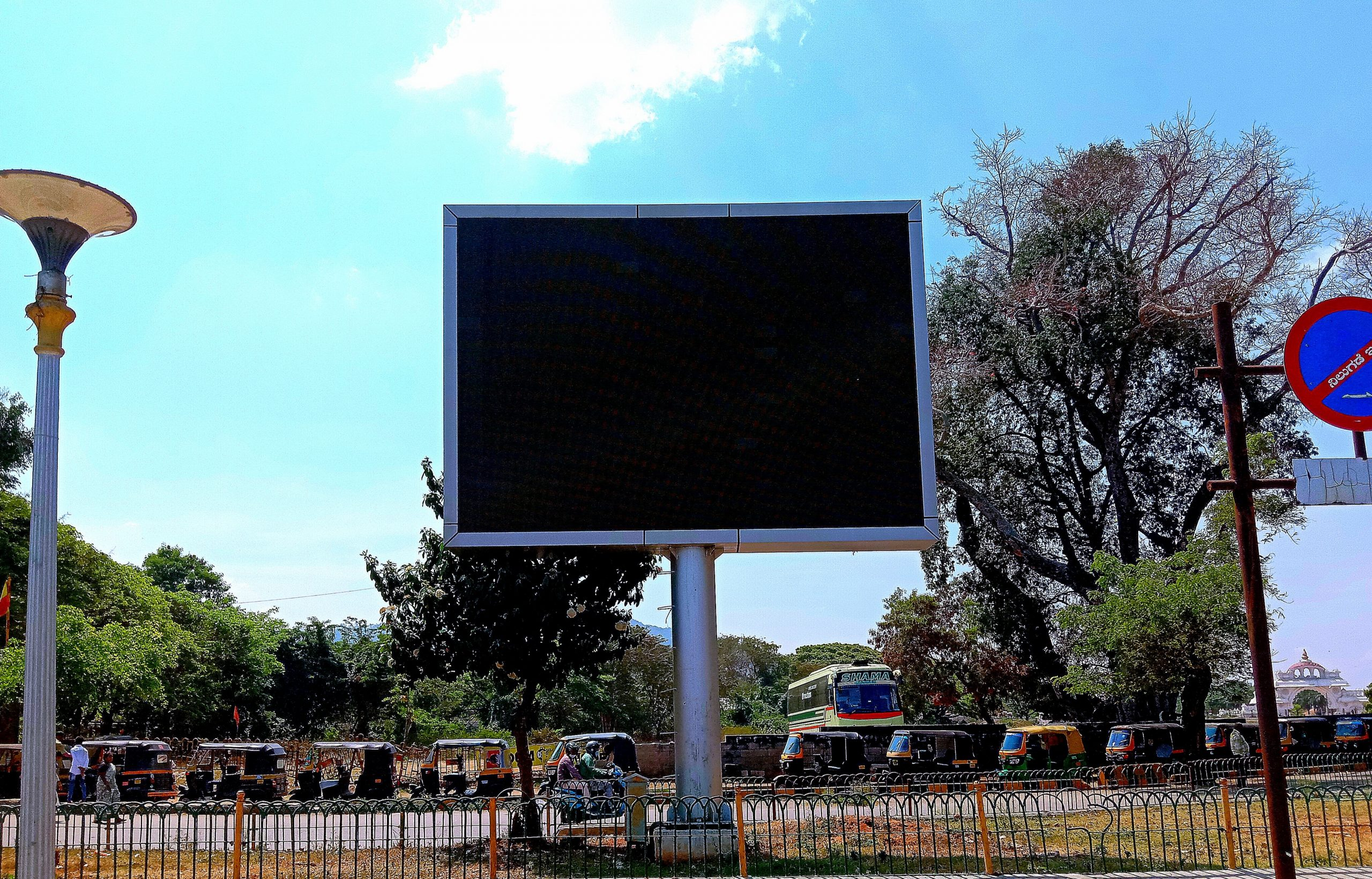 LED display screen at a public place