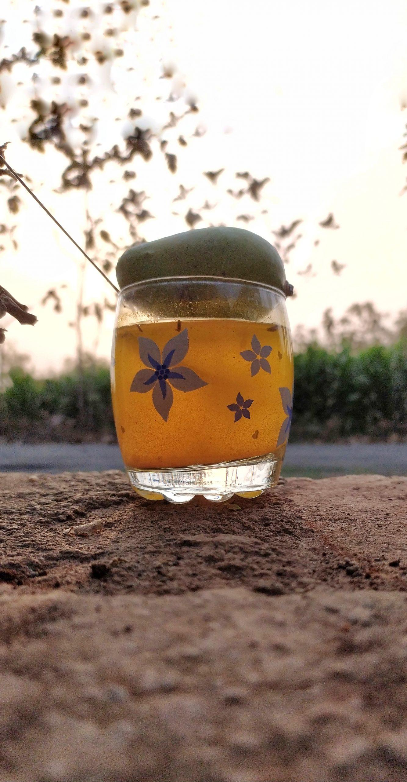 Mango juice glass