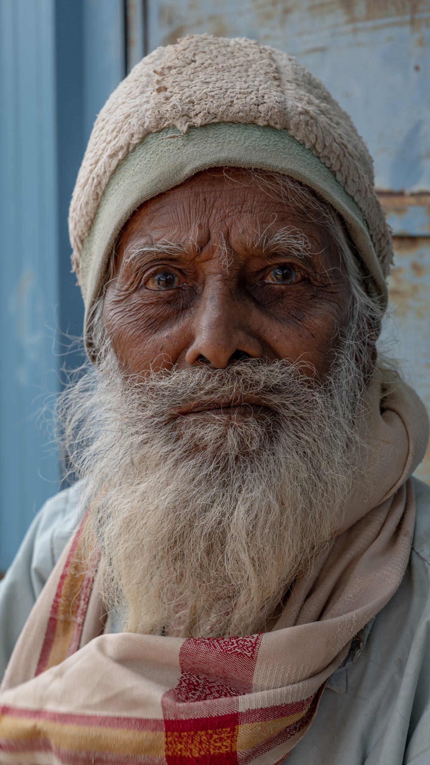 Old man with grey beard