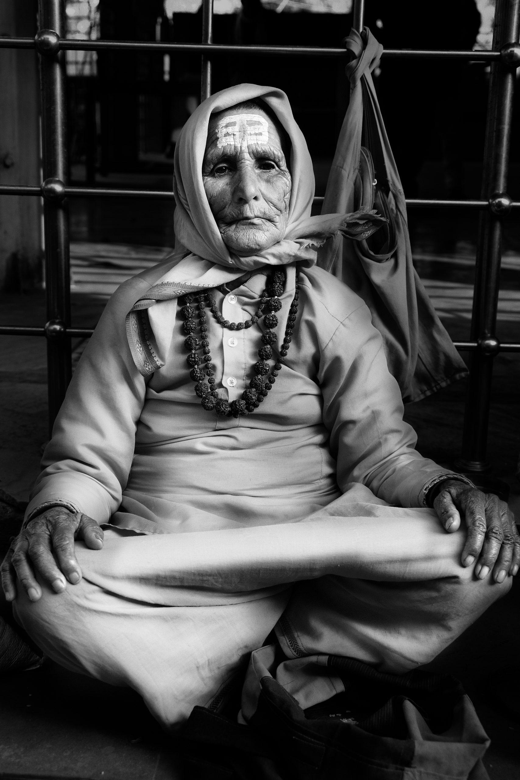 A lady monk