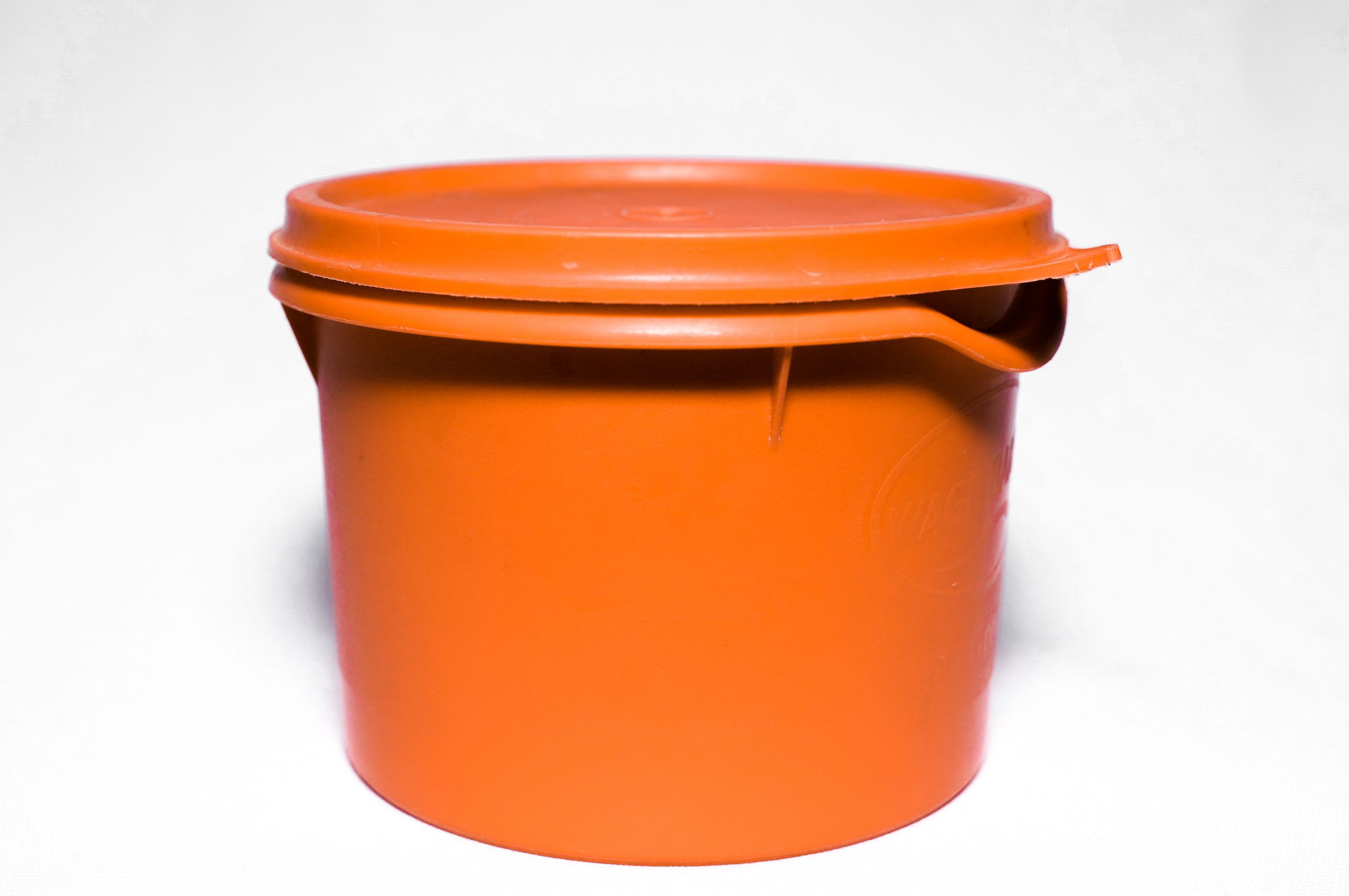 Orange Tiffin Box in white background