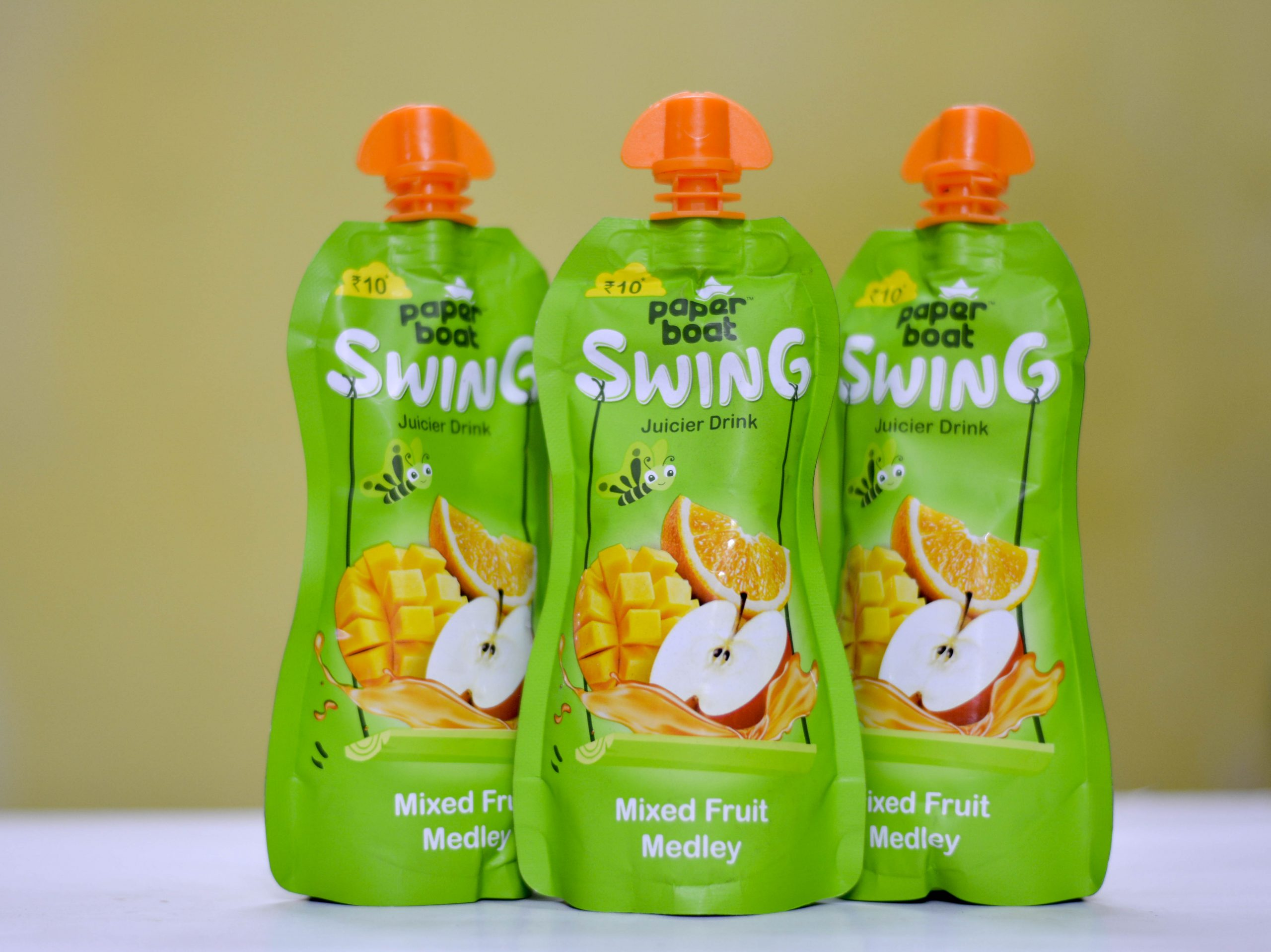 Paper boat swing juice packs