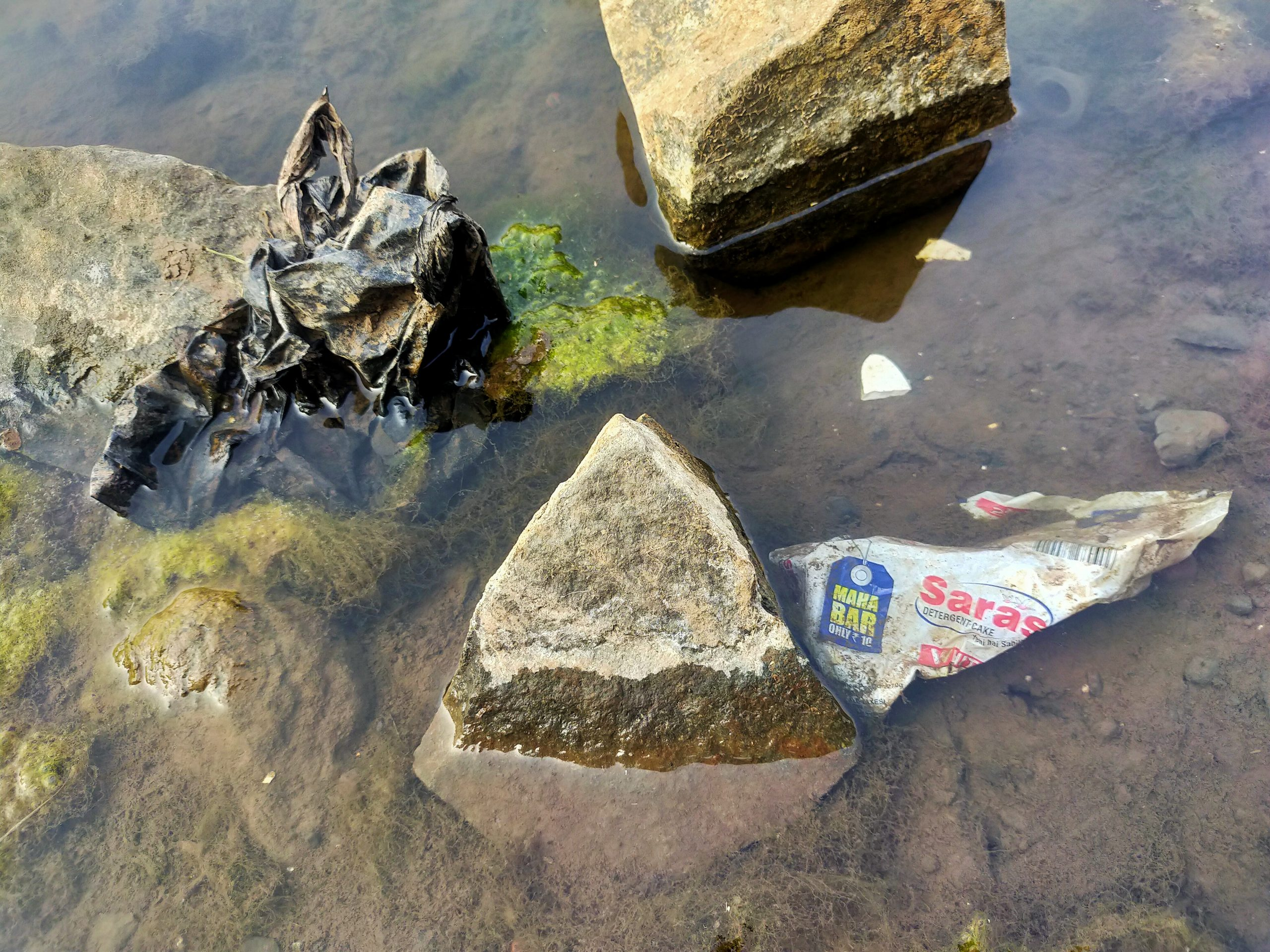 Plastic in the water