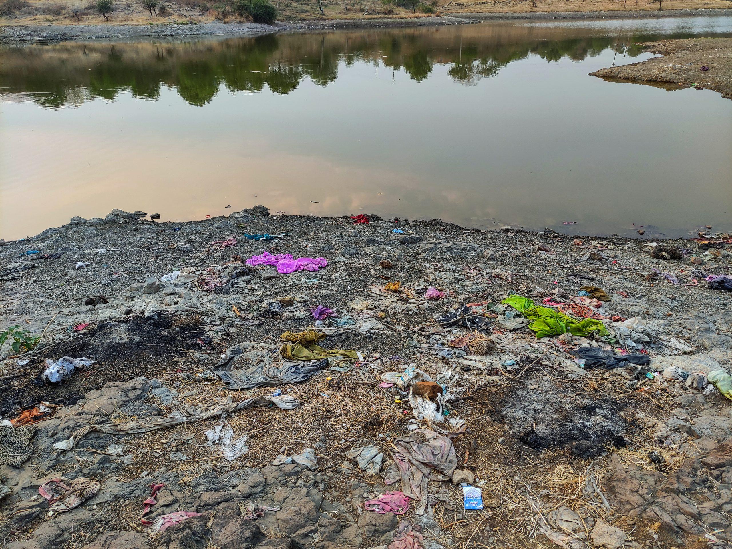 Plastic near the river