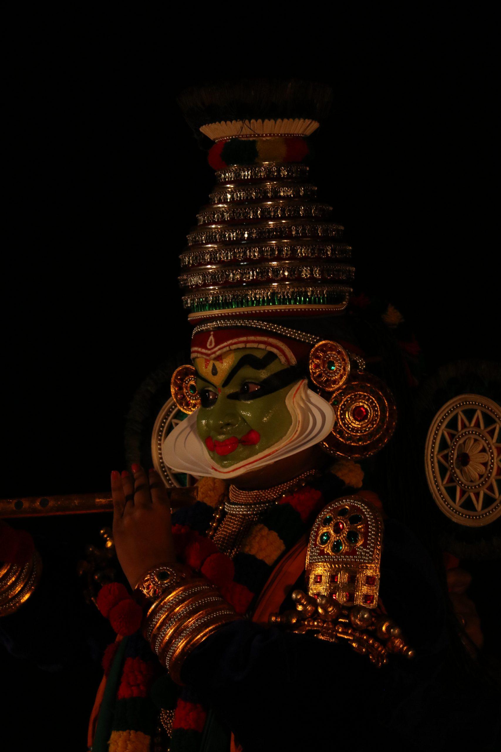 Portrait of a Kathakali dancer