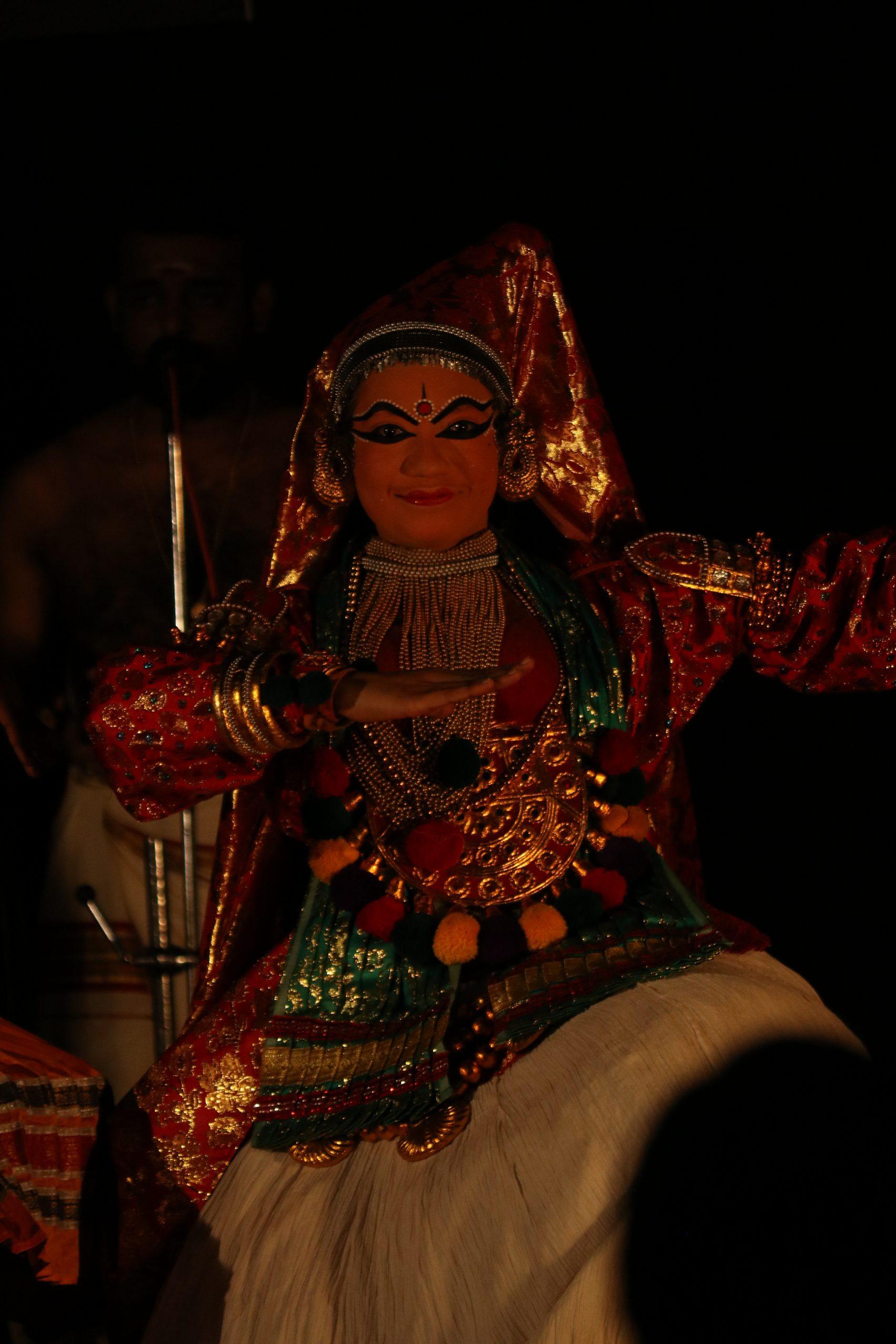 Portrait of a female kathakali artist