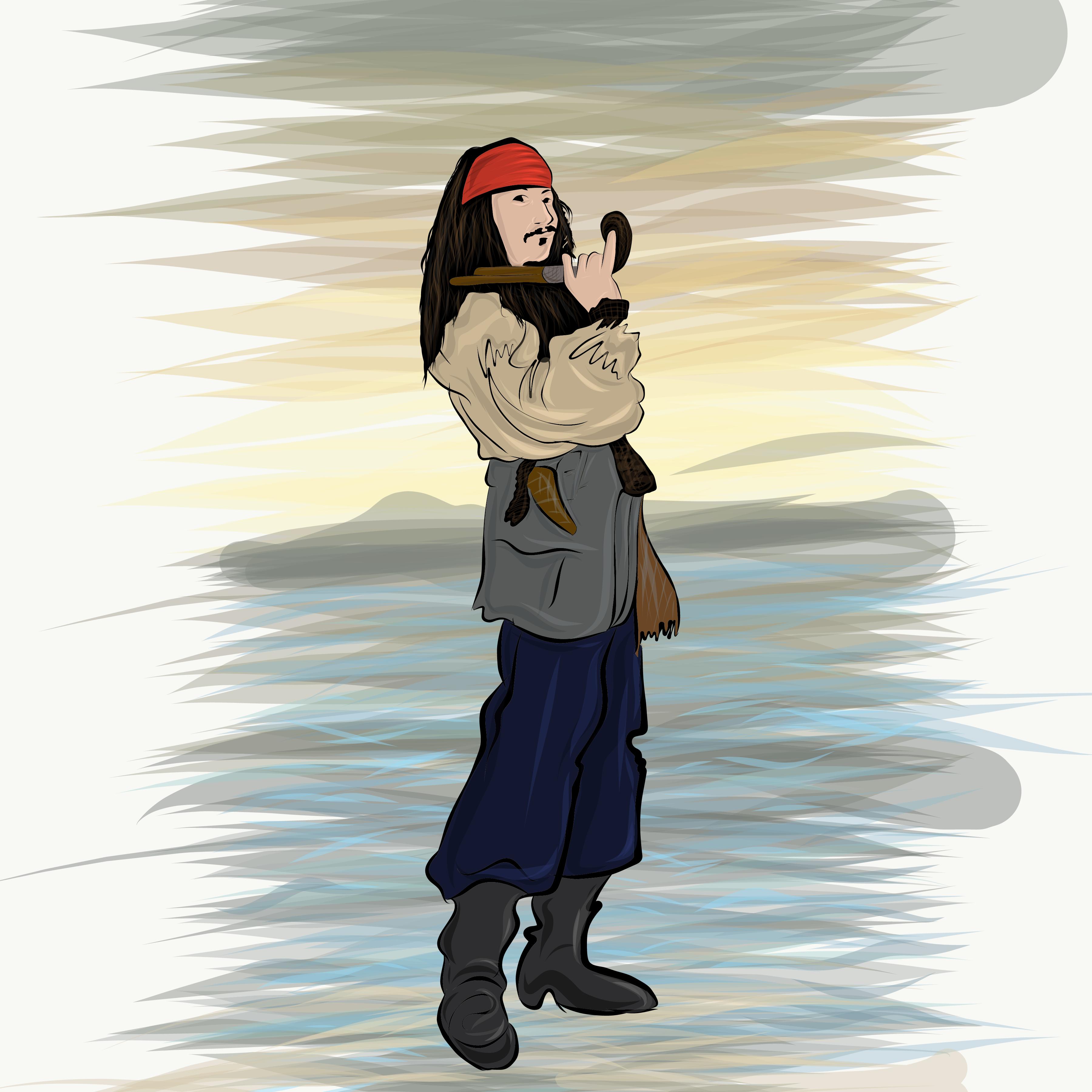American actor Johnny Depp illustration
