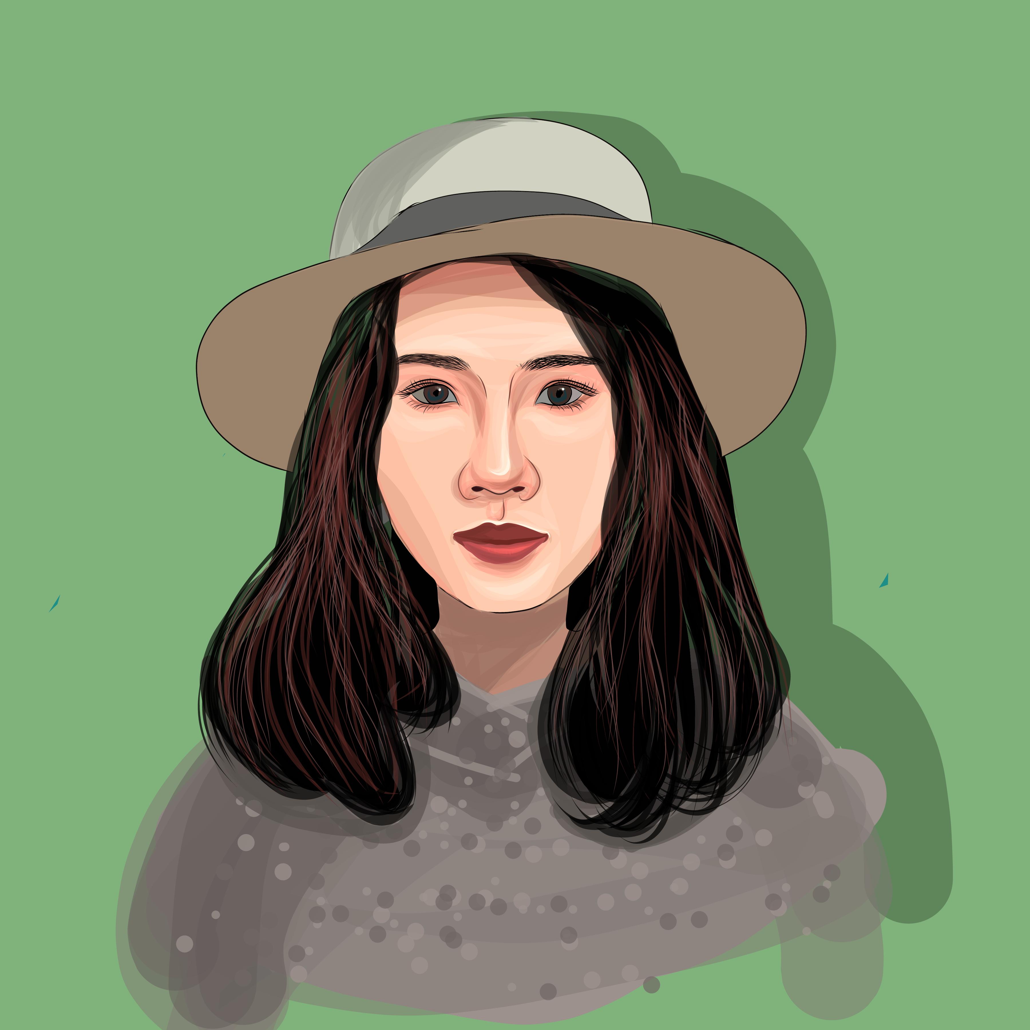 Illustration portrait of a girl