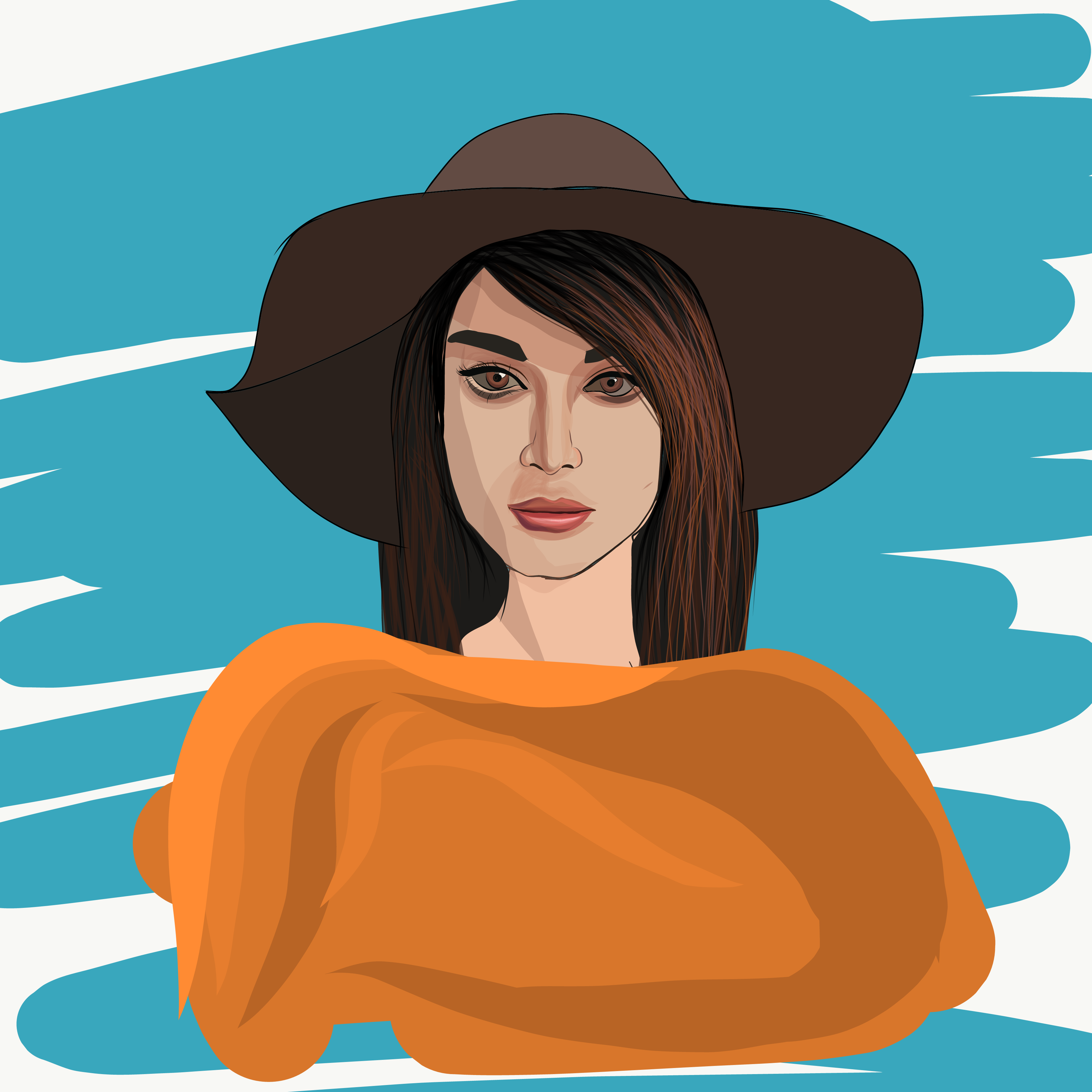Illustration of a stylish girl