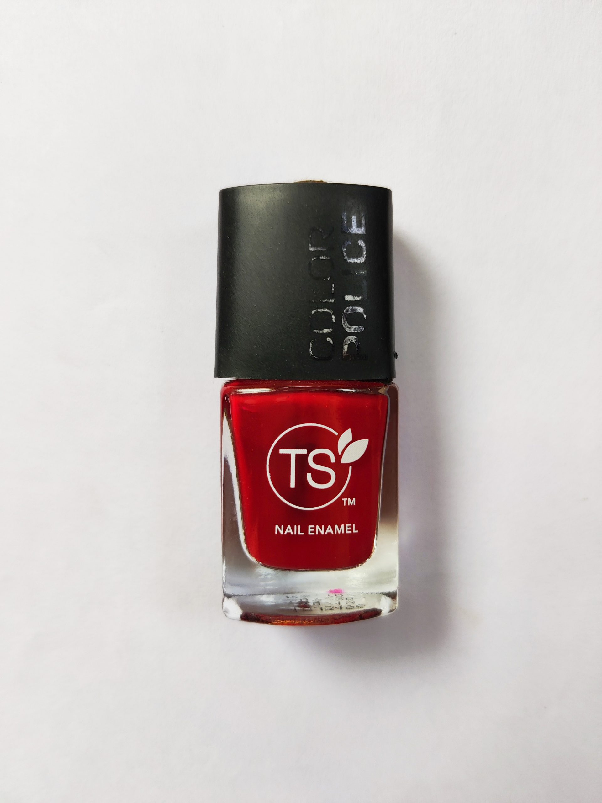 Red nail paint bottle