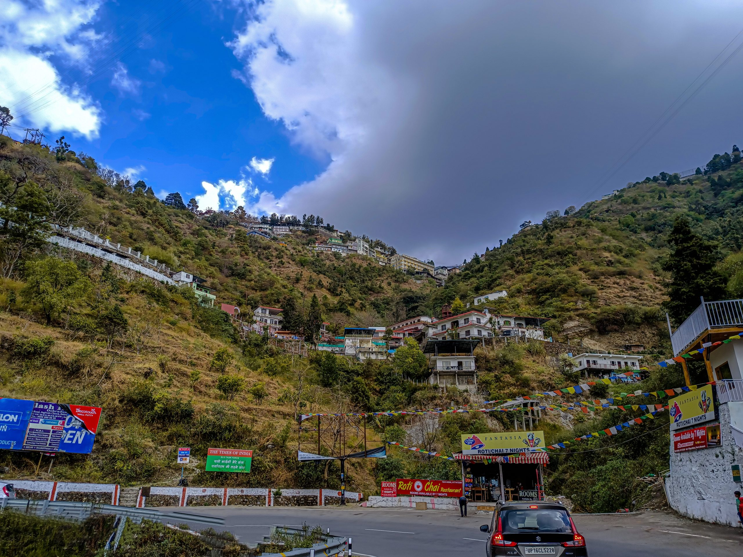 Roads of Mussoorie hill station